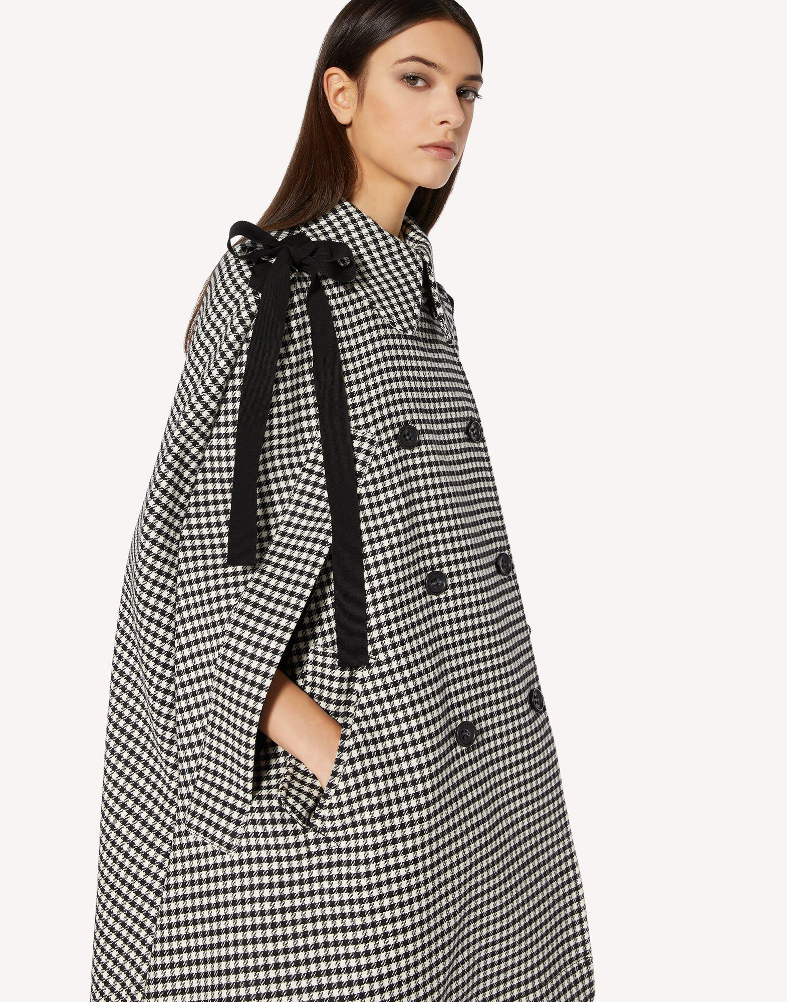 VICHY MOTIF CAPE WITH BOW DETAIL 3