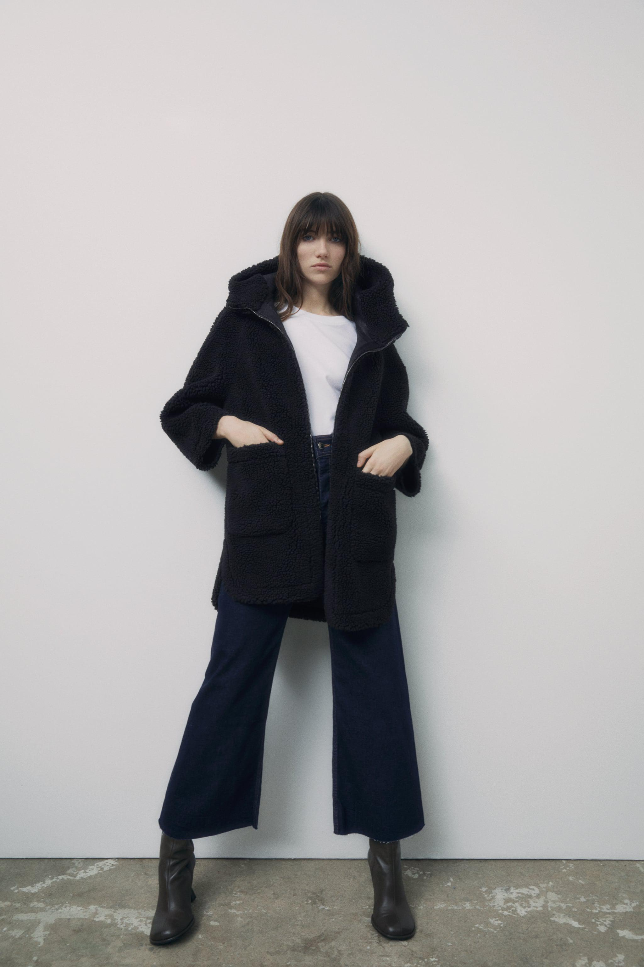 DOUBLE SIDED FAUX SHEARLING COAT