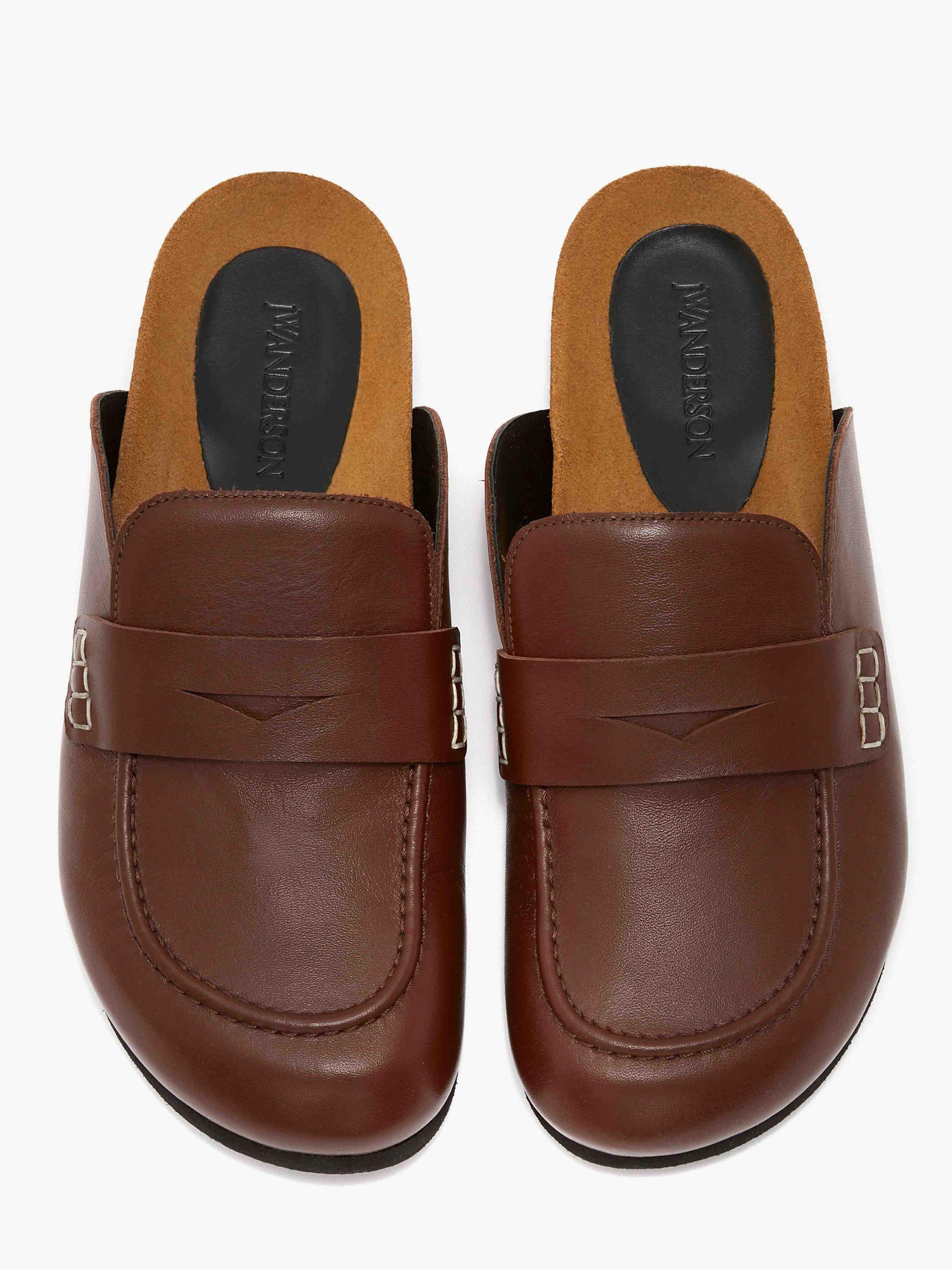 MEN'S LEATHER LOAFER MULES 3