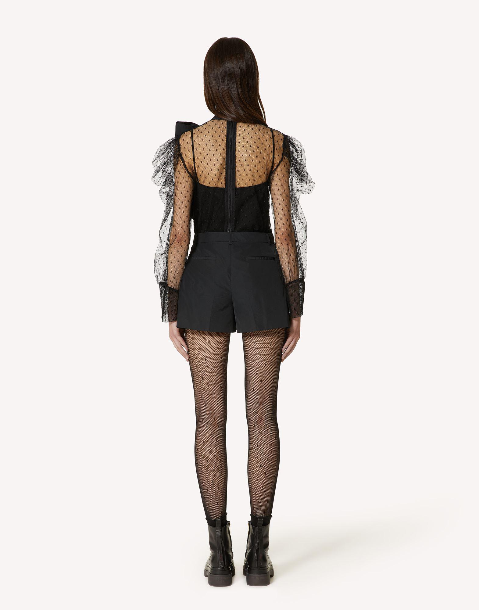 THE BLACK TAG. - POINT D'ESPRIT TULLE AND TAFFETA TOP 1