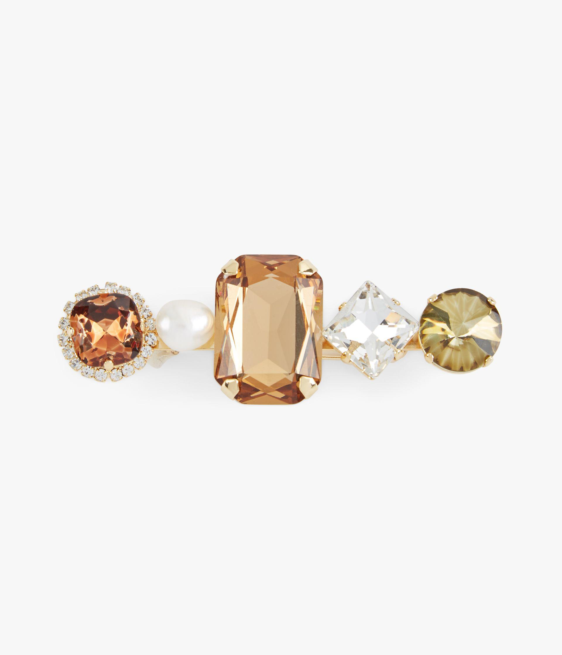Smoked Topaz Cluster Crystal Brooch