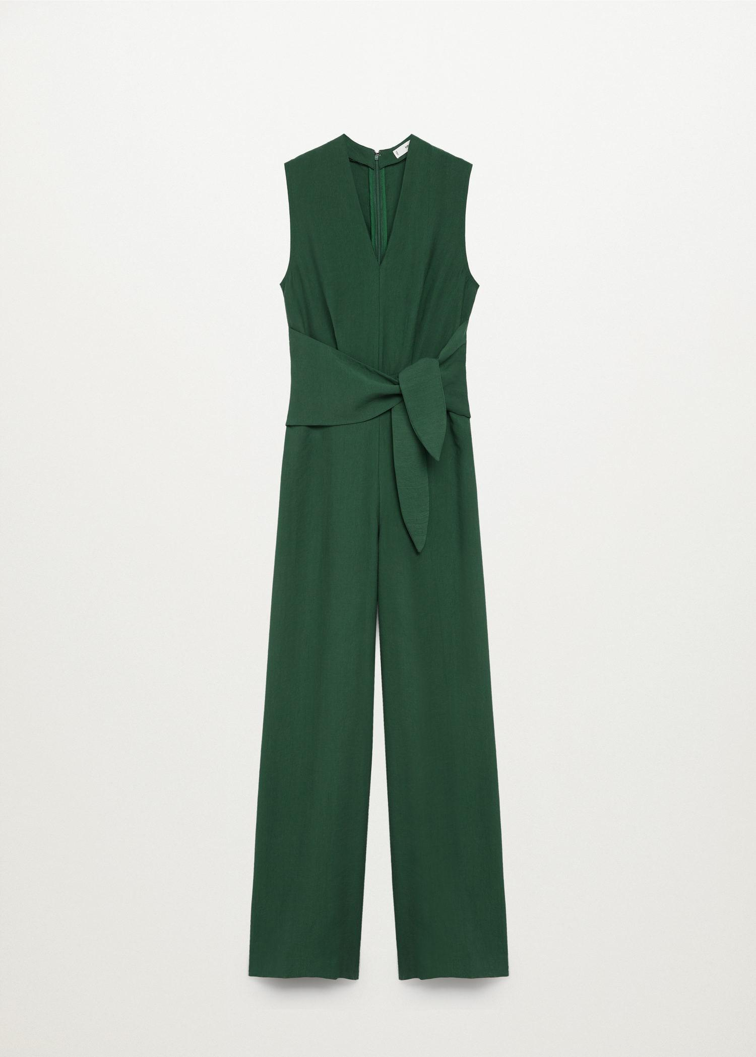 Lyocell jumpsuit with belt 7
