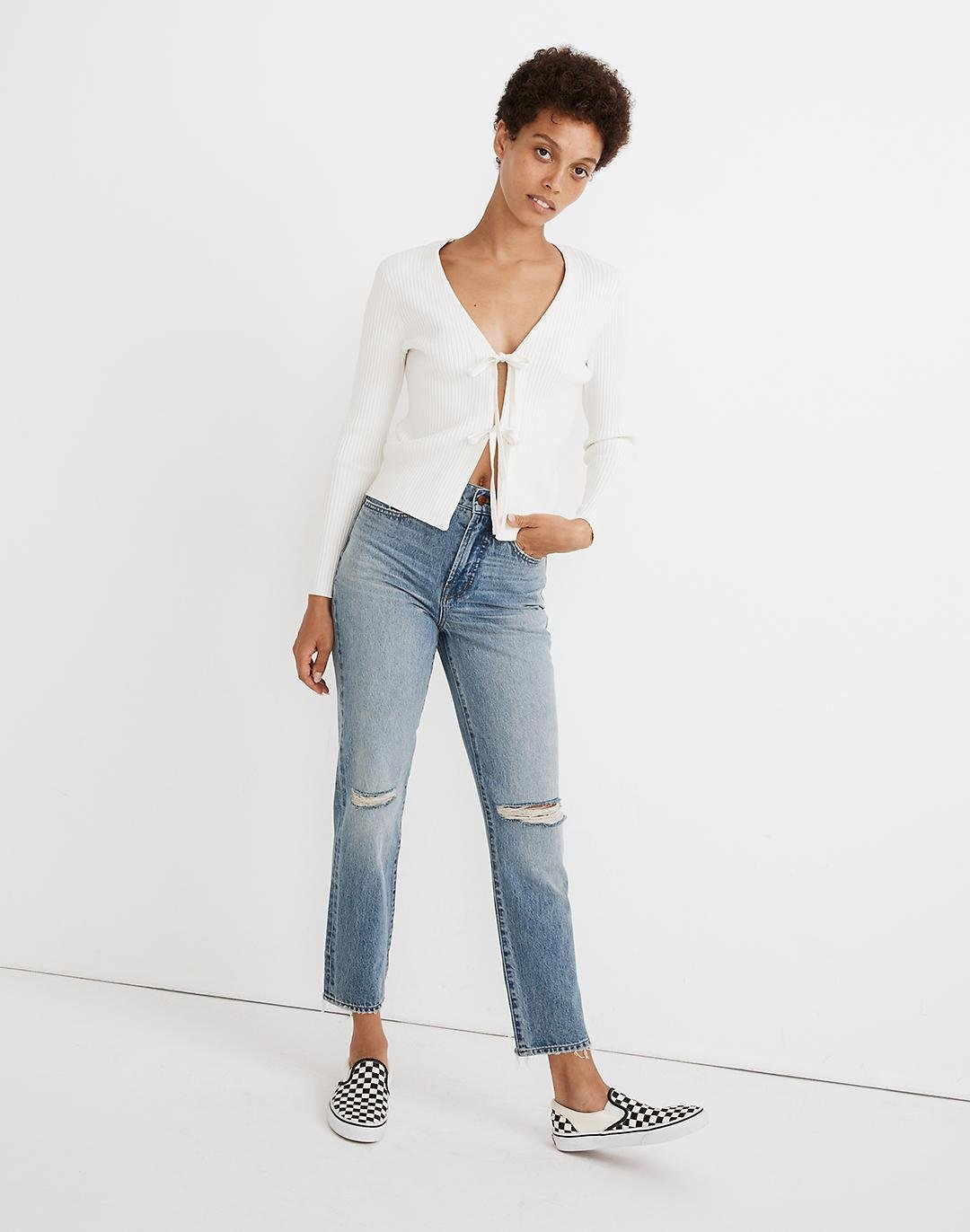 The Perfect Vintage Jean in Phillips Wash: Knee-Rips Edition