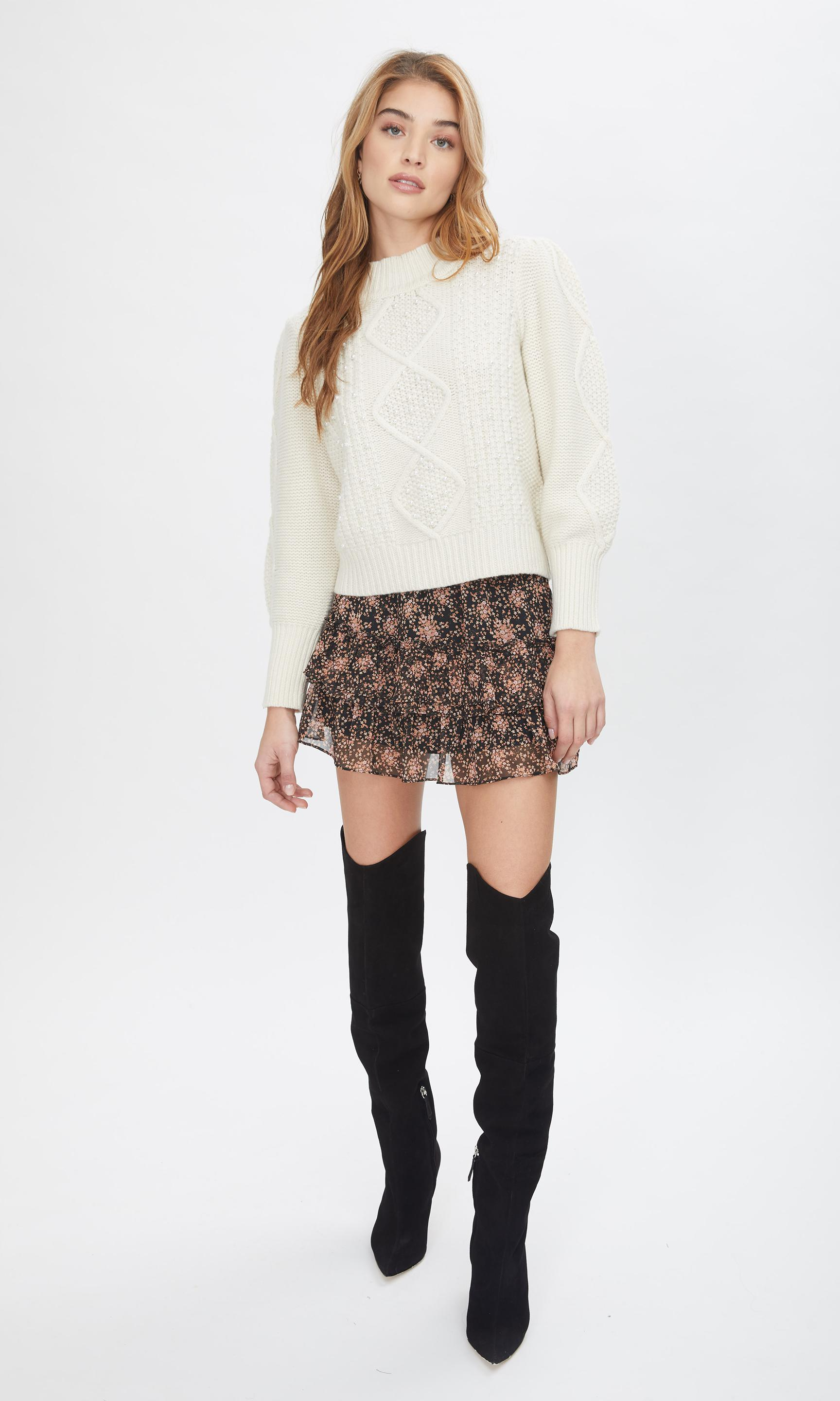 Aspen Pearl Cable Sweater 4