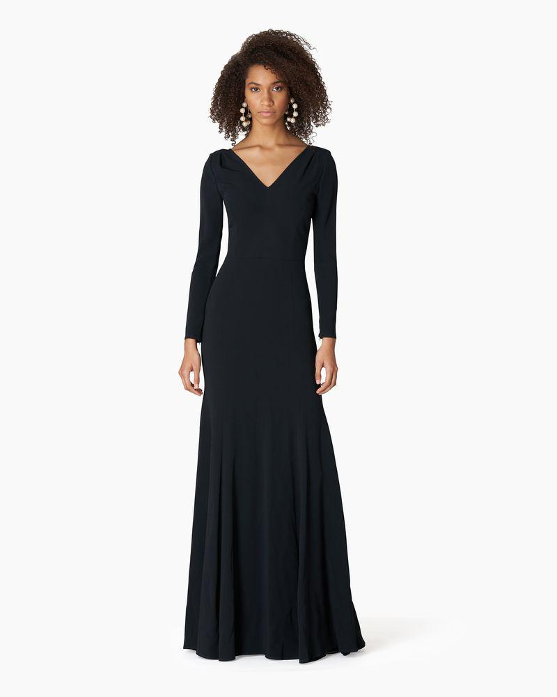 Long Sleeve V-neck Trumpet Gown