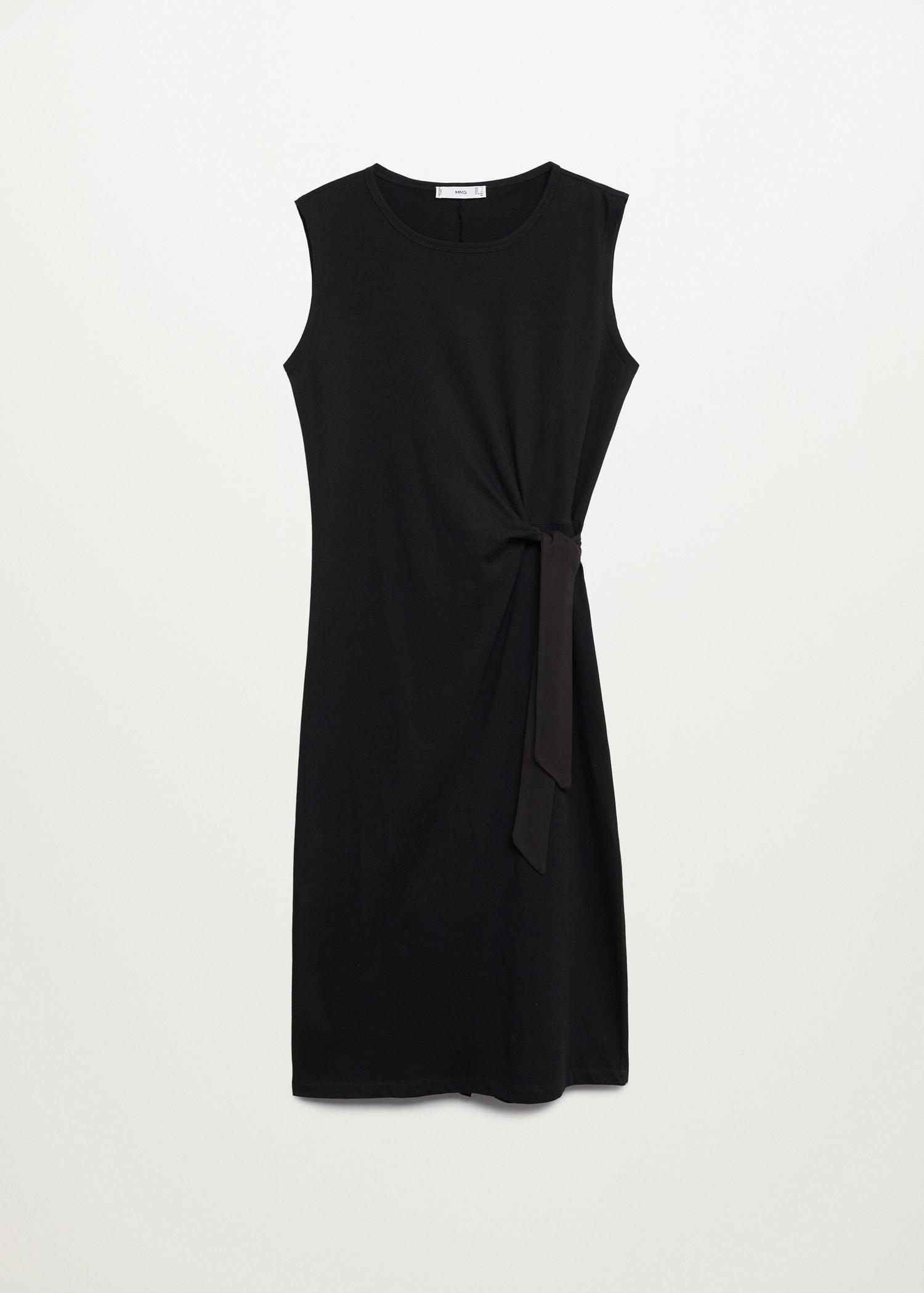 Knotted cotton dress 6