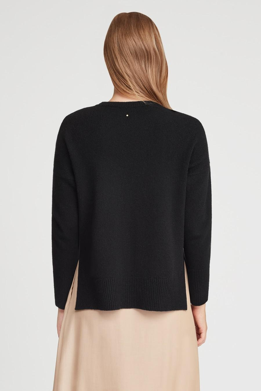 Women's Recycled Crewneck Sweater in Black   Size: 3