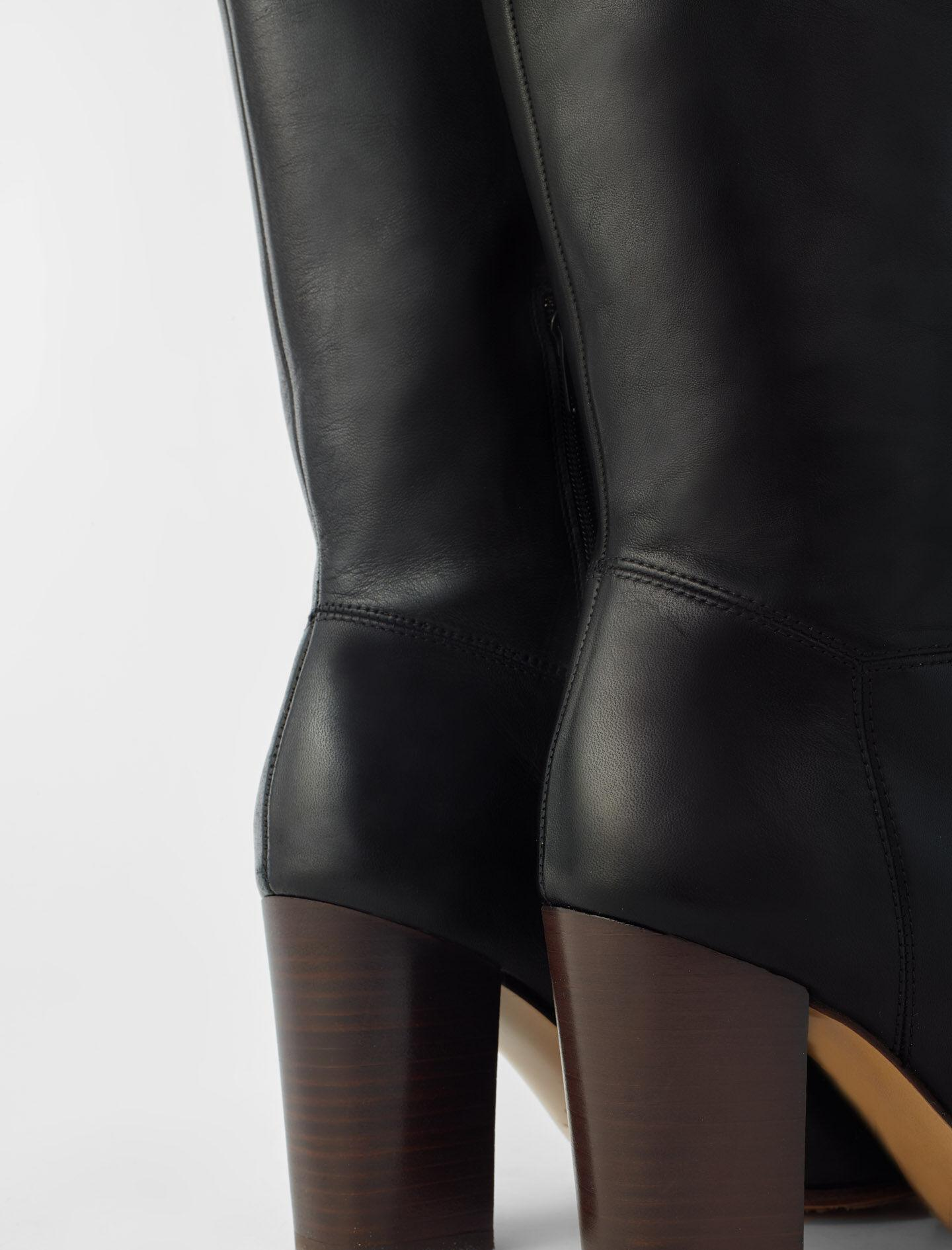 HEELED SMOOTH LEATHER BOOTS 4