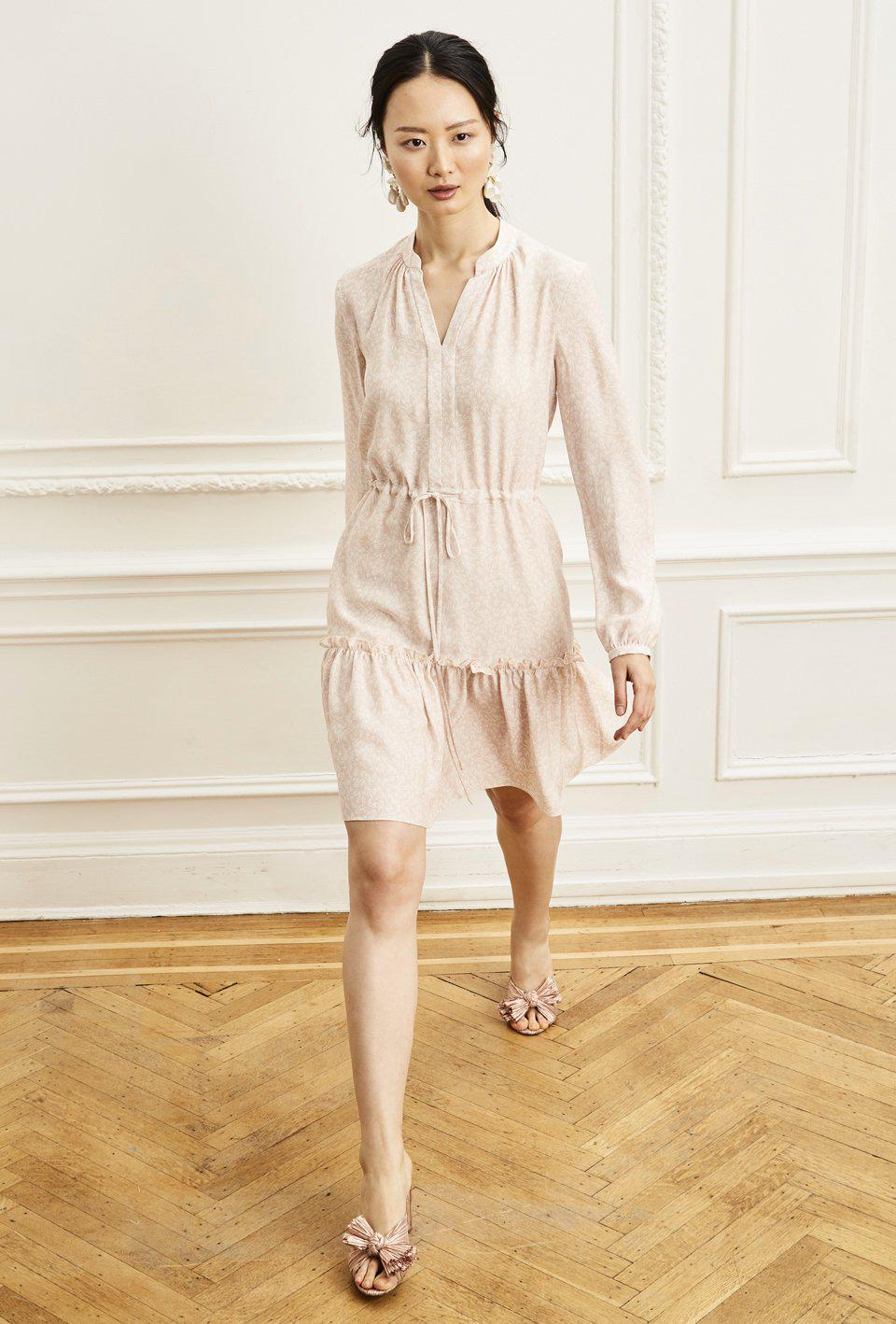 Fit and Flare Shirt Dress - Peony Bamboo