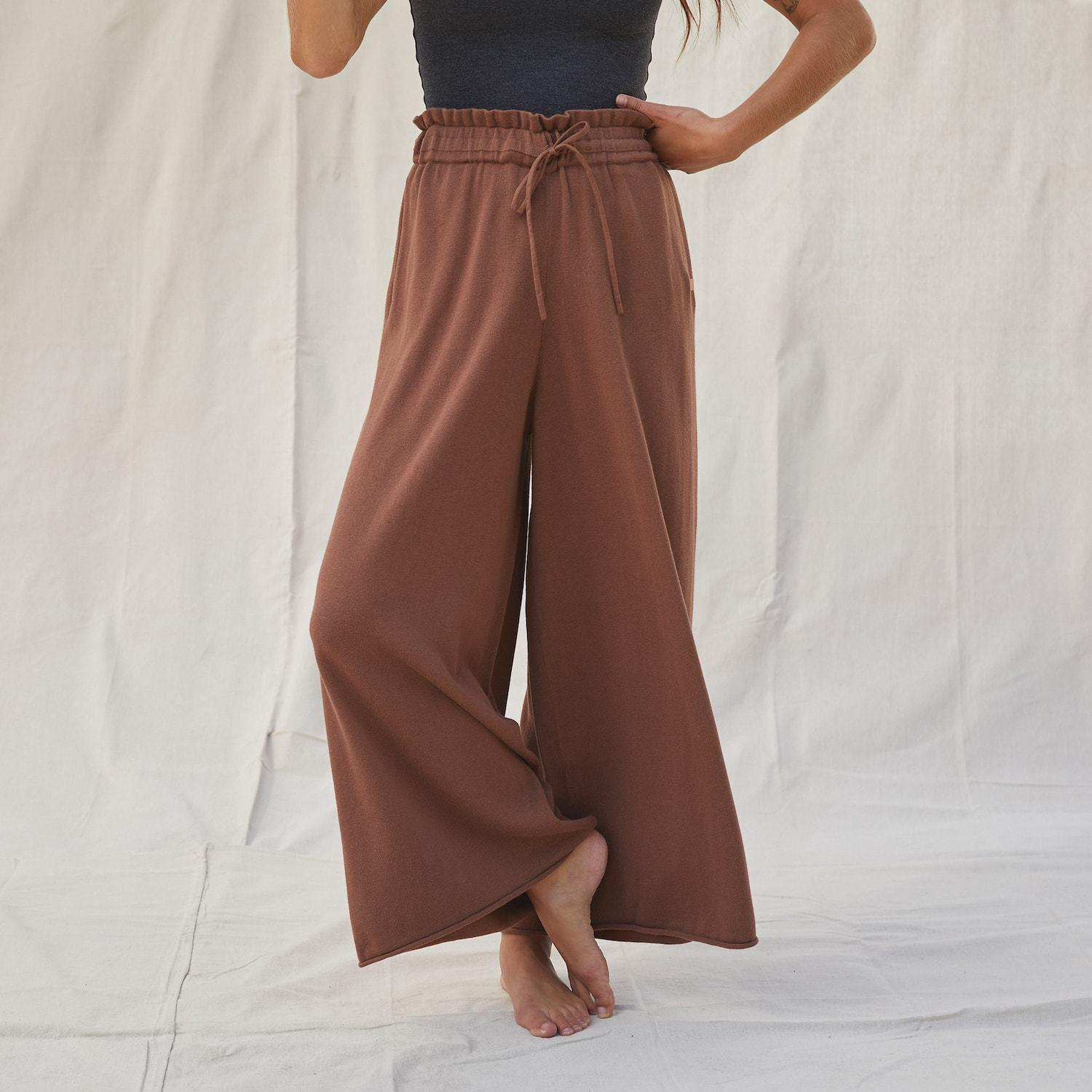 Cozy Cotton Silk Relaxed Ankle Pant