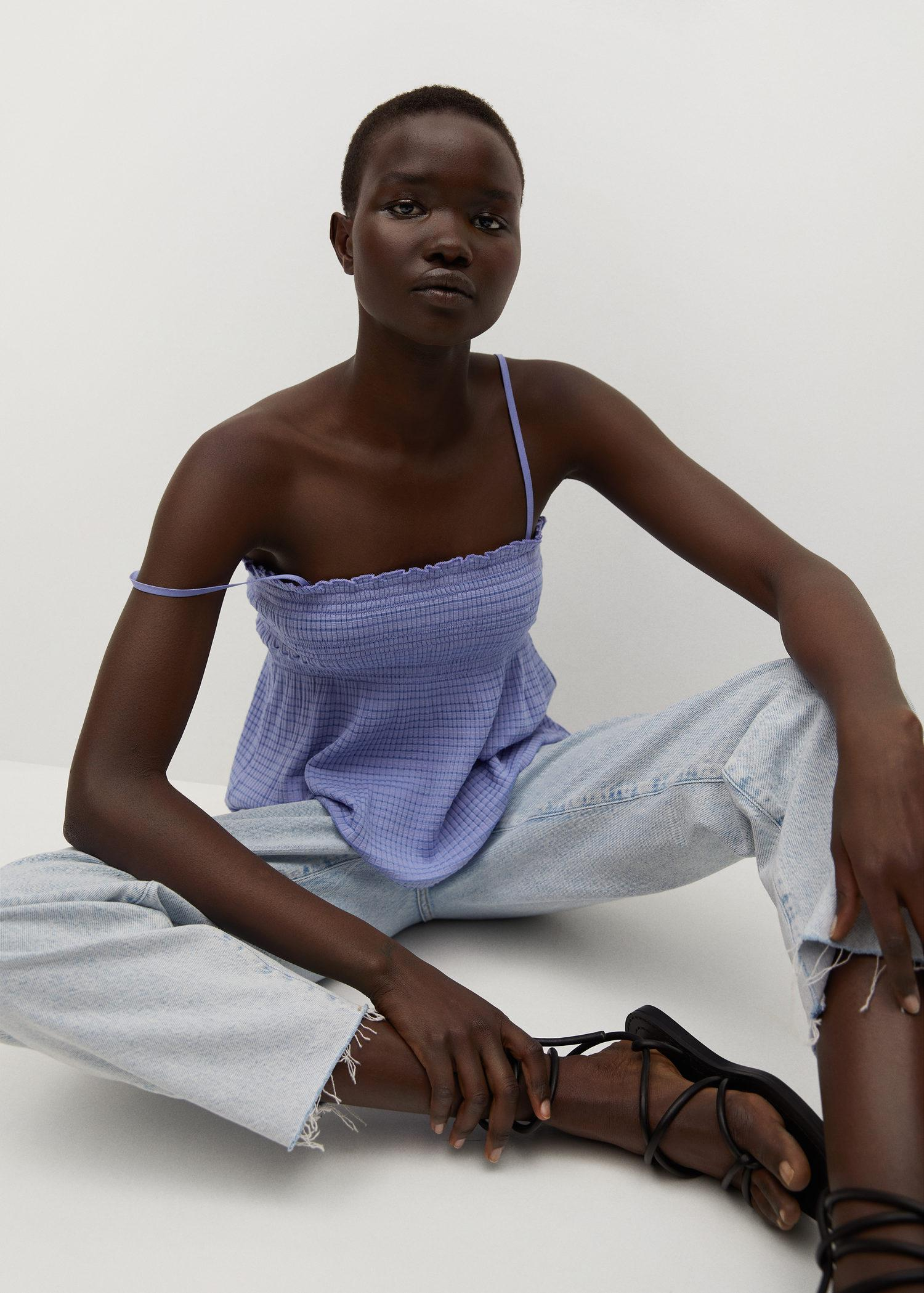 Pleated strap top 4