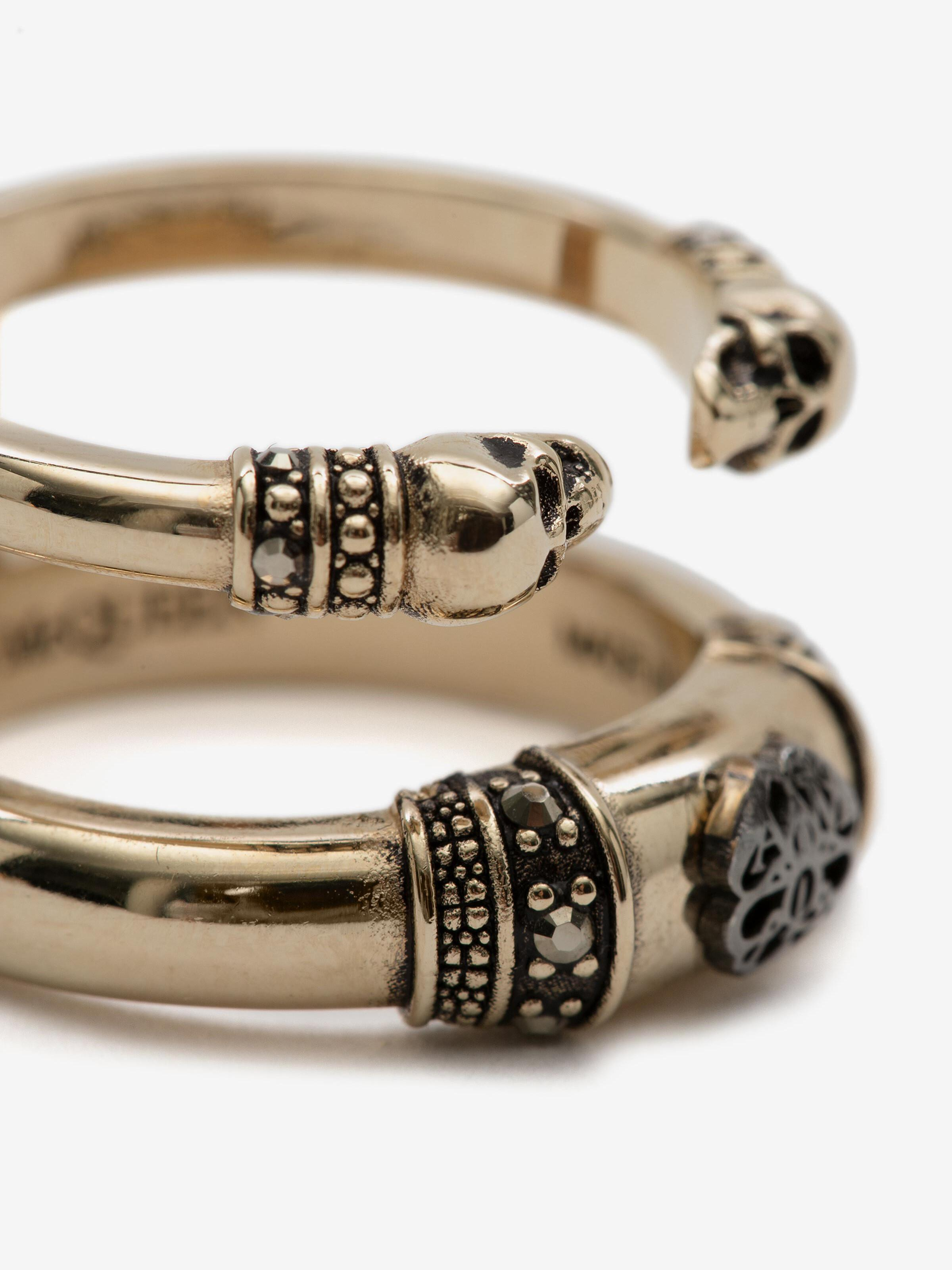 Skull and Charm Seal Double Ring 3