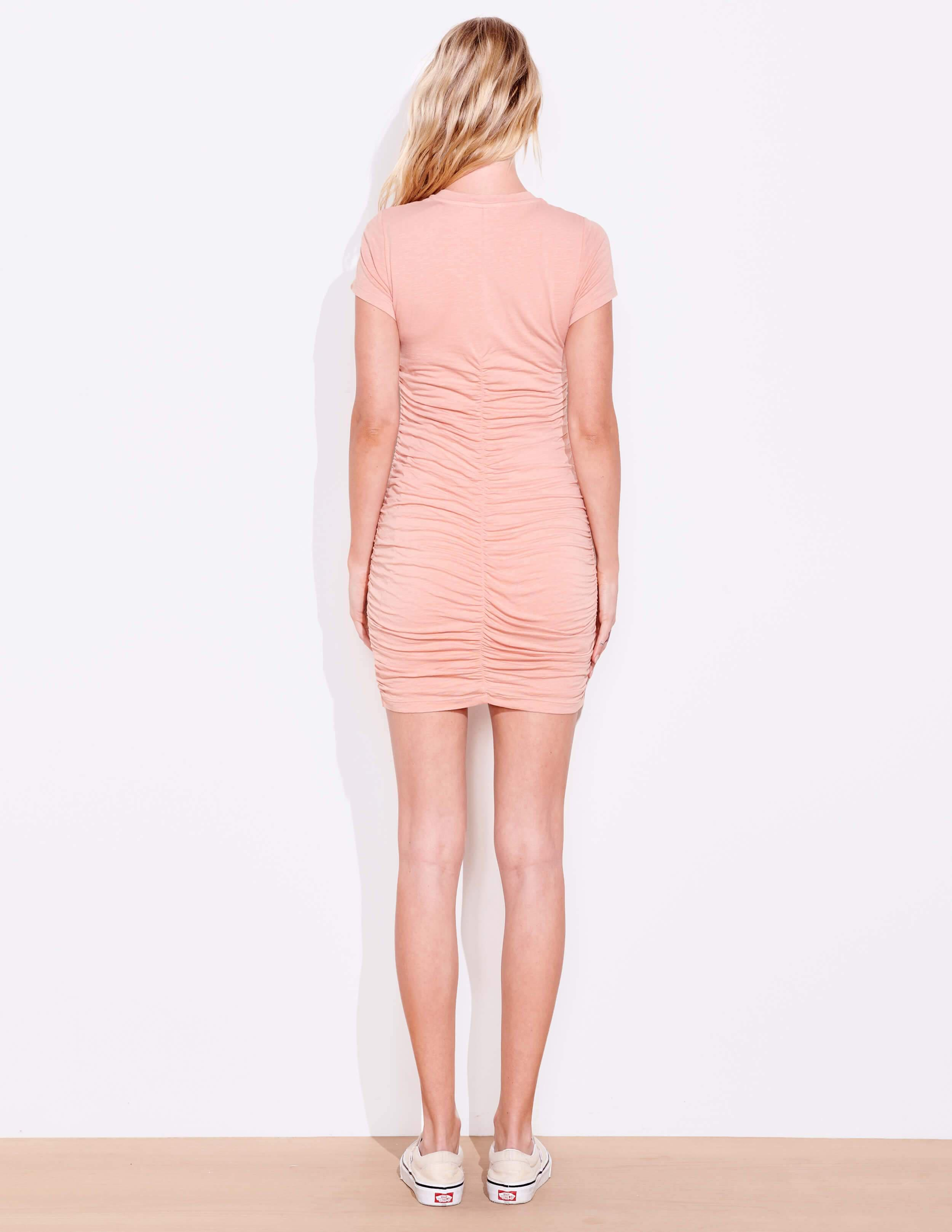 Short Sleeve Ruched Dress 4