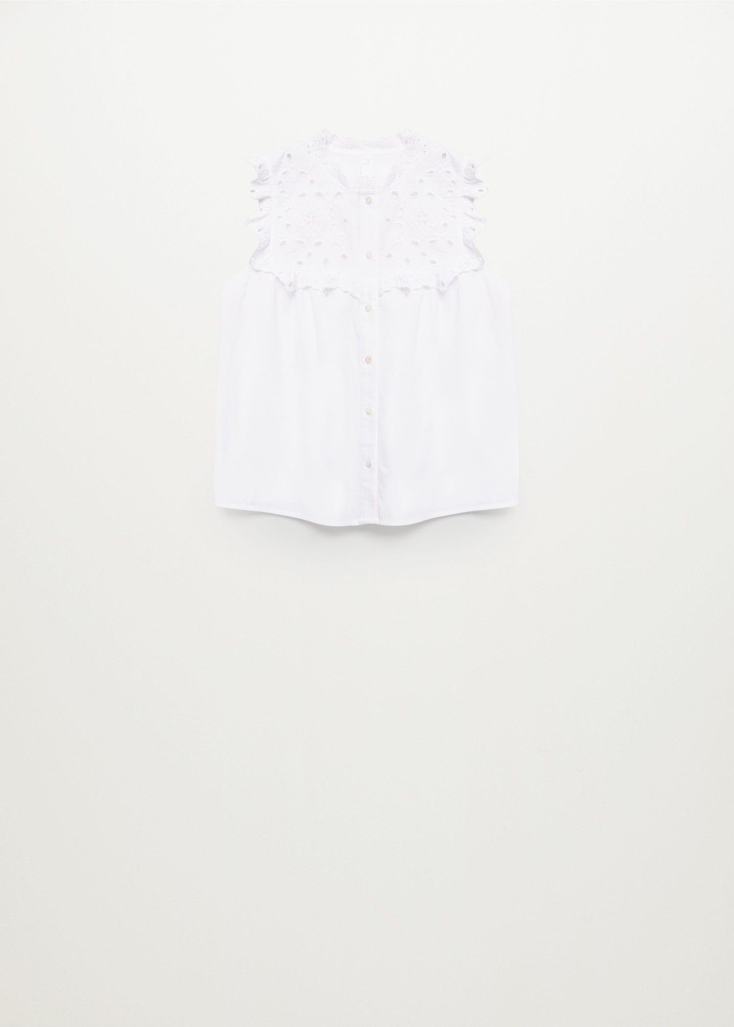 Swiss embroidery cotton blouse 8
