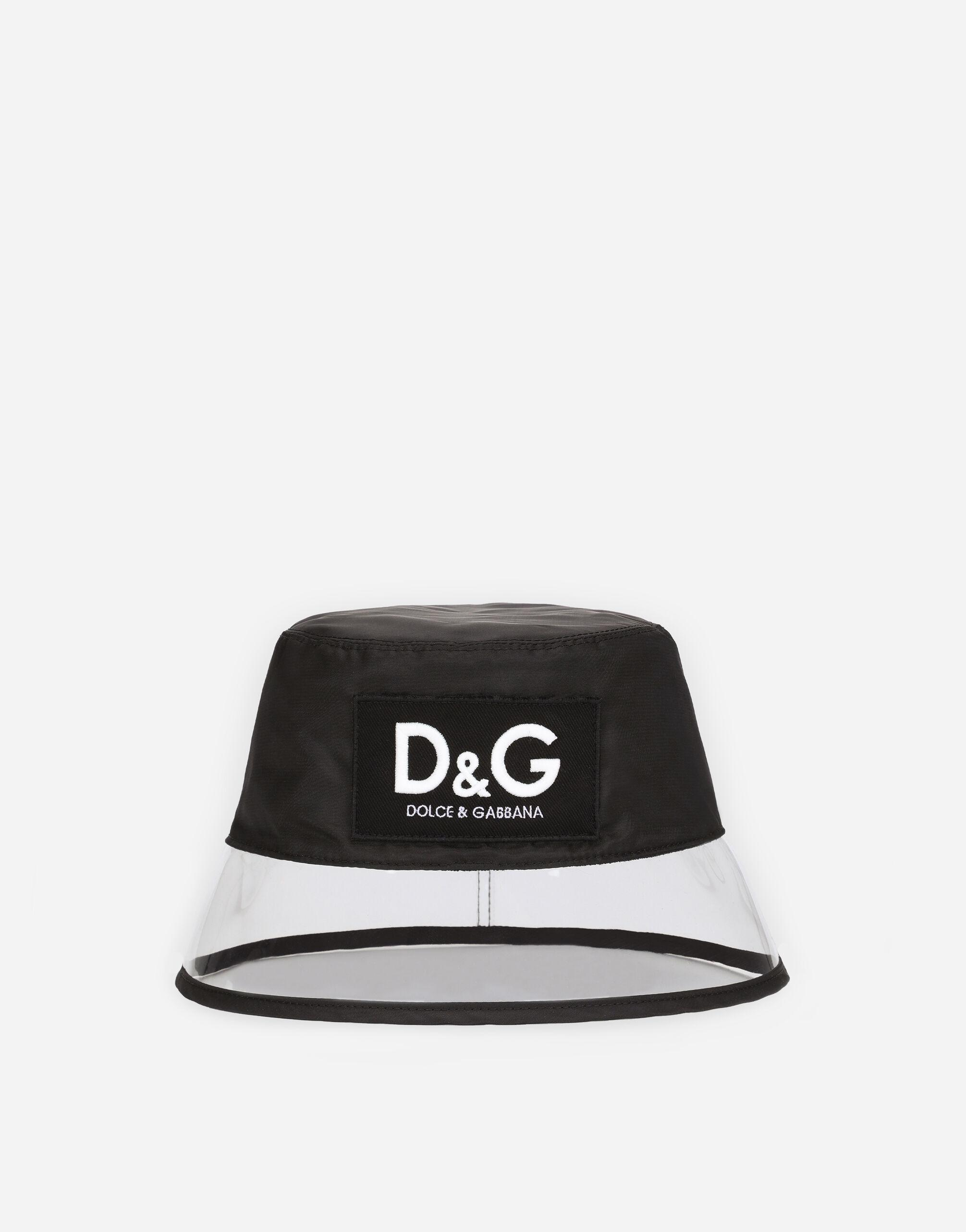 Nylon bucket hat with D&G patch