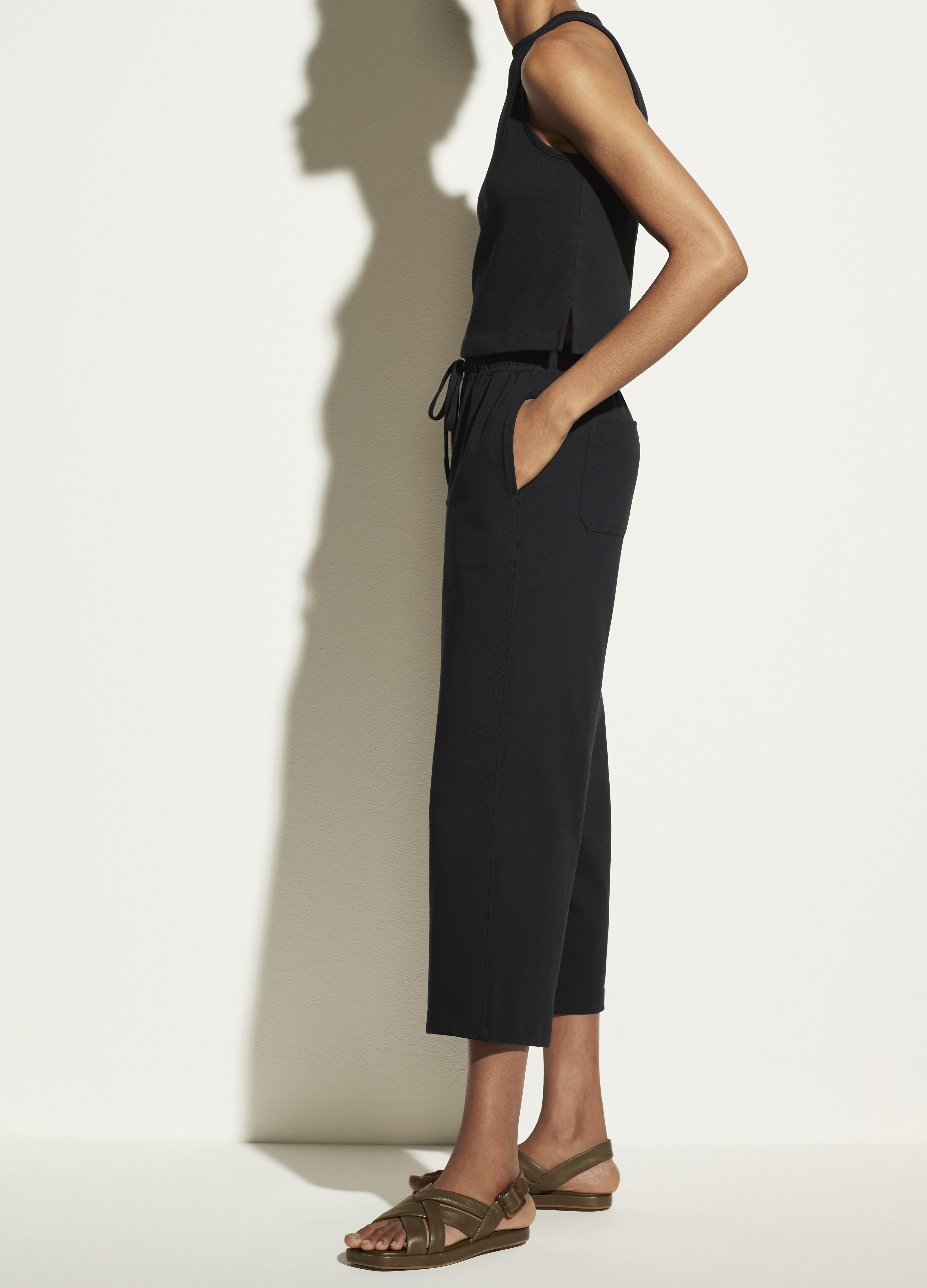 Cropped Wide Leg Pull On Pant 2