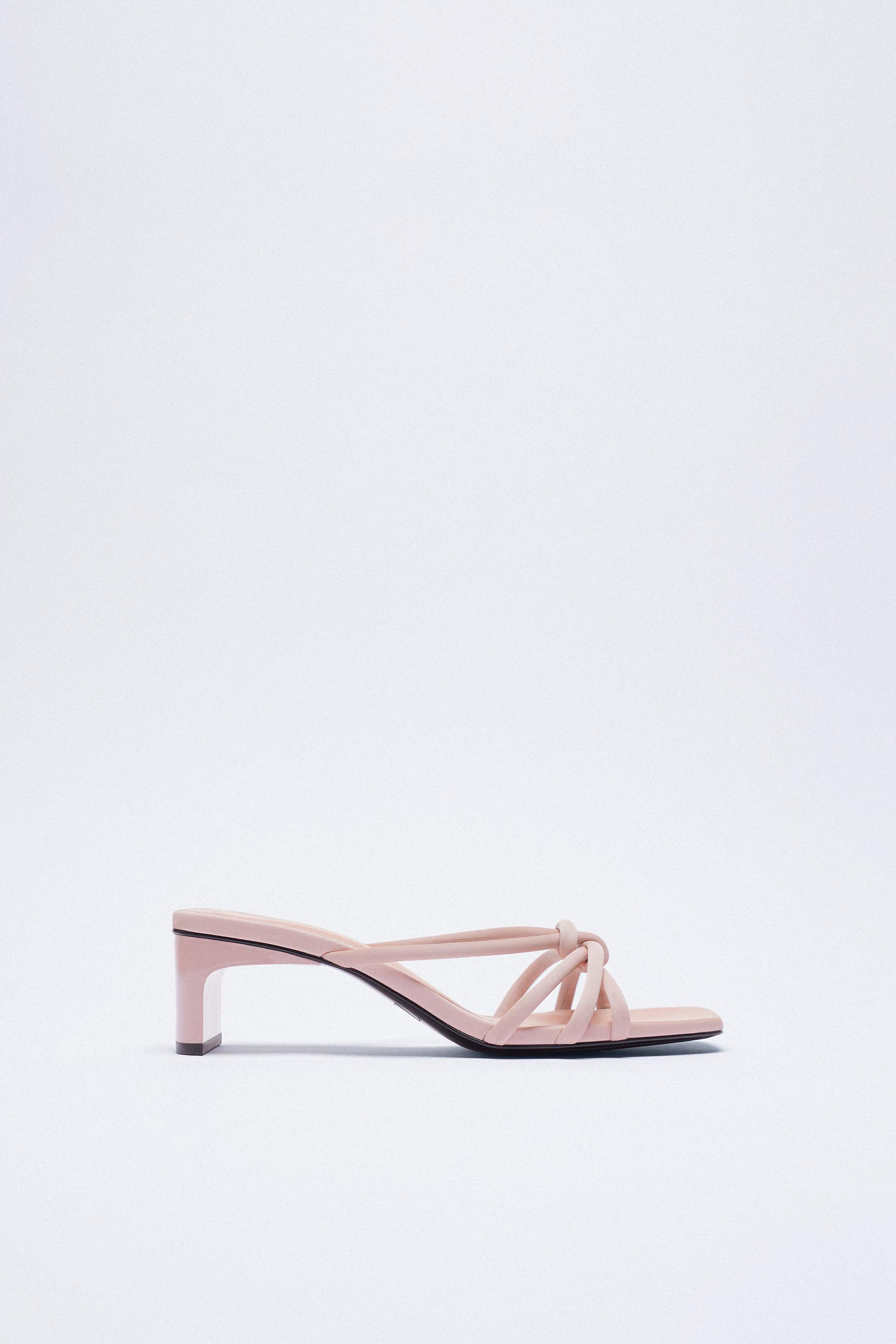 HIGH HEELED SANDALS WITH KNOT DETAIL