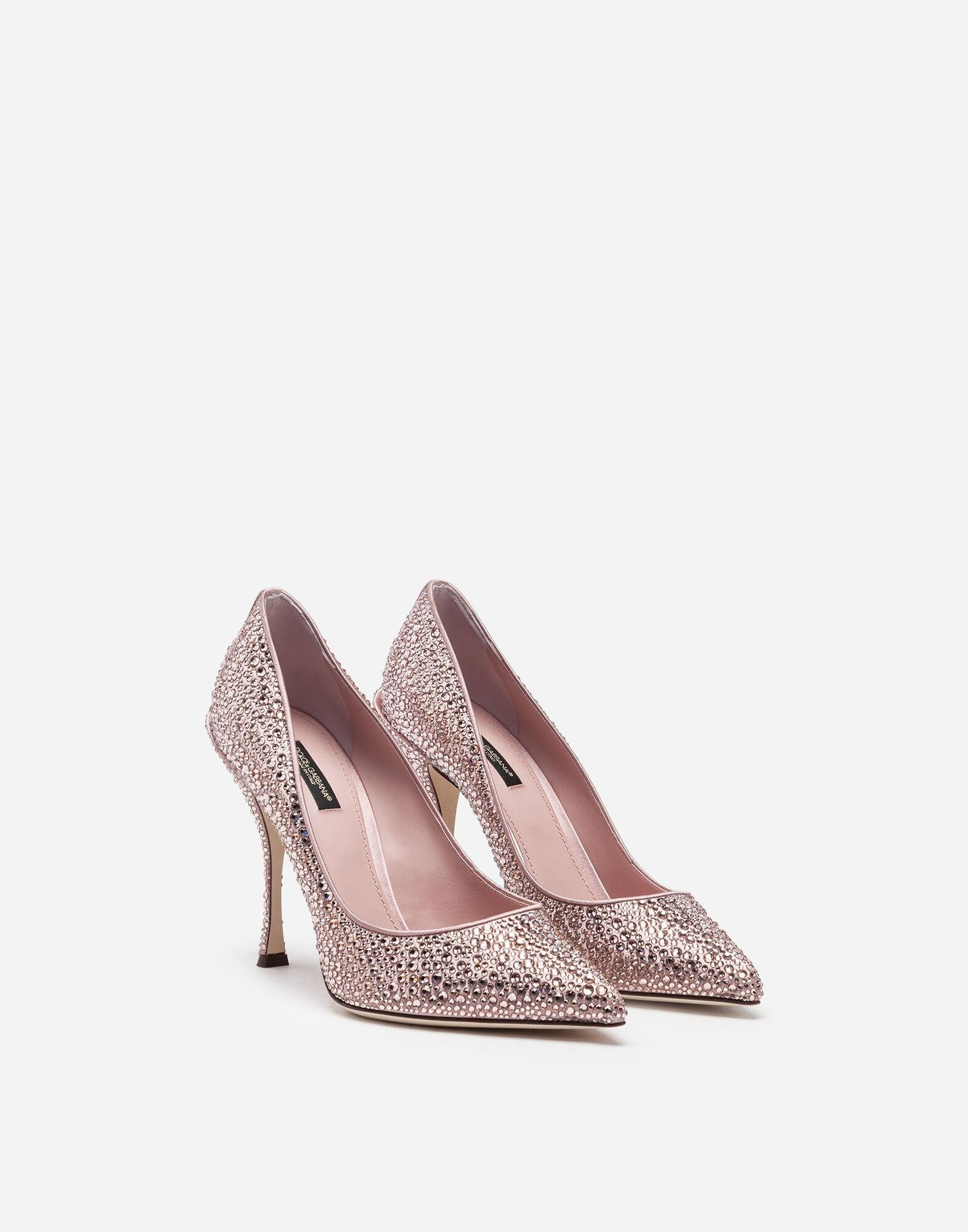 Pumps in satin and crystal 1