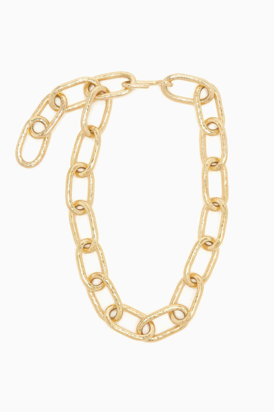 Barbara Hand Hammered Chain Necklace