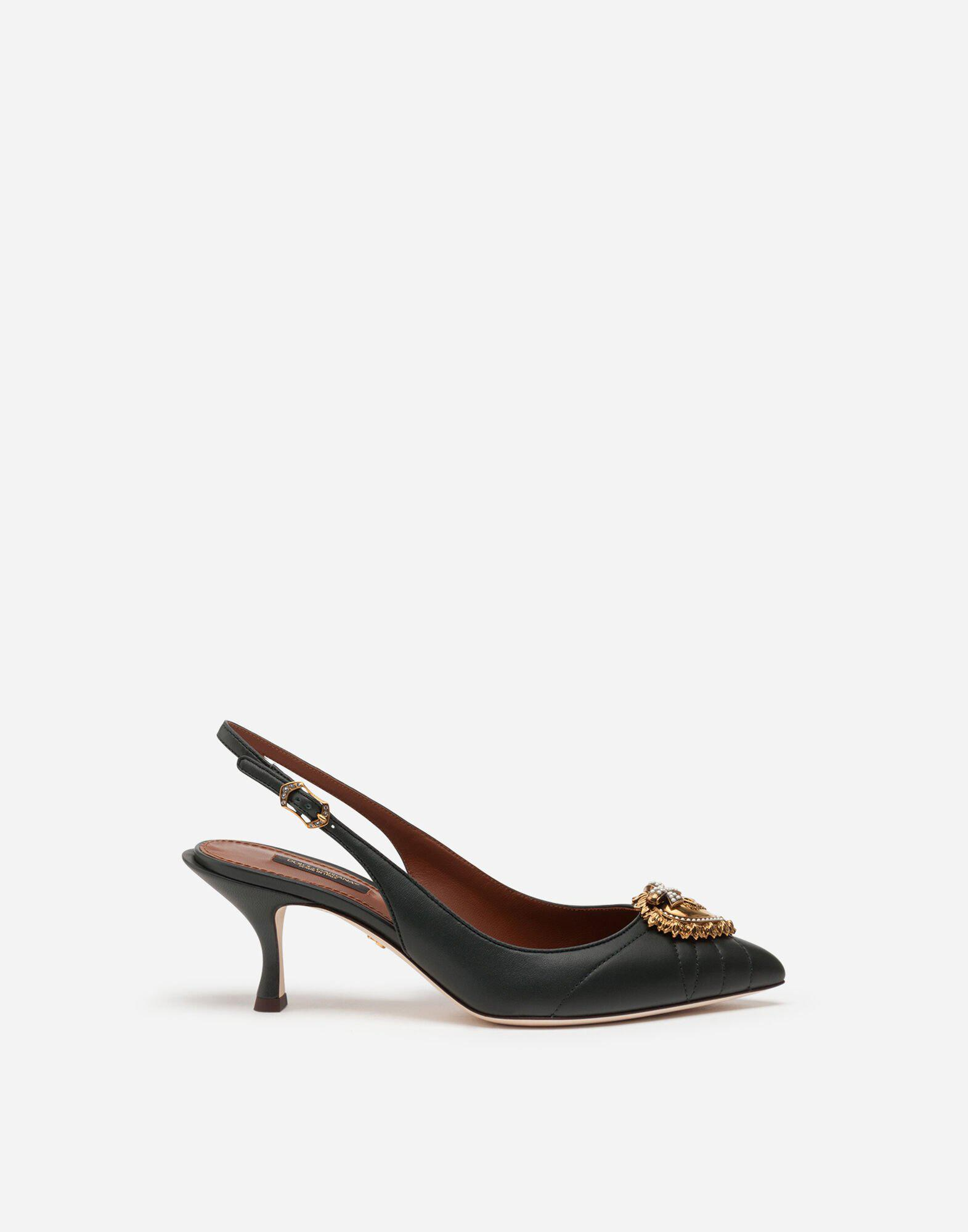 Quilted nappa leather Devotion slingbacks