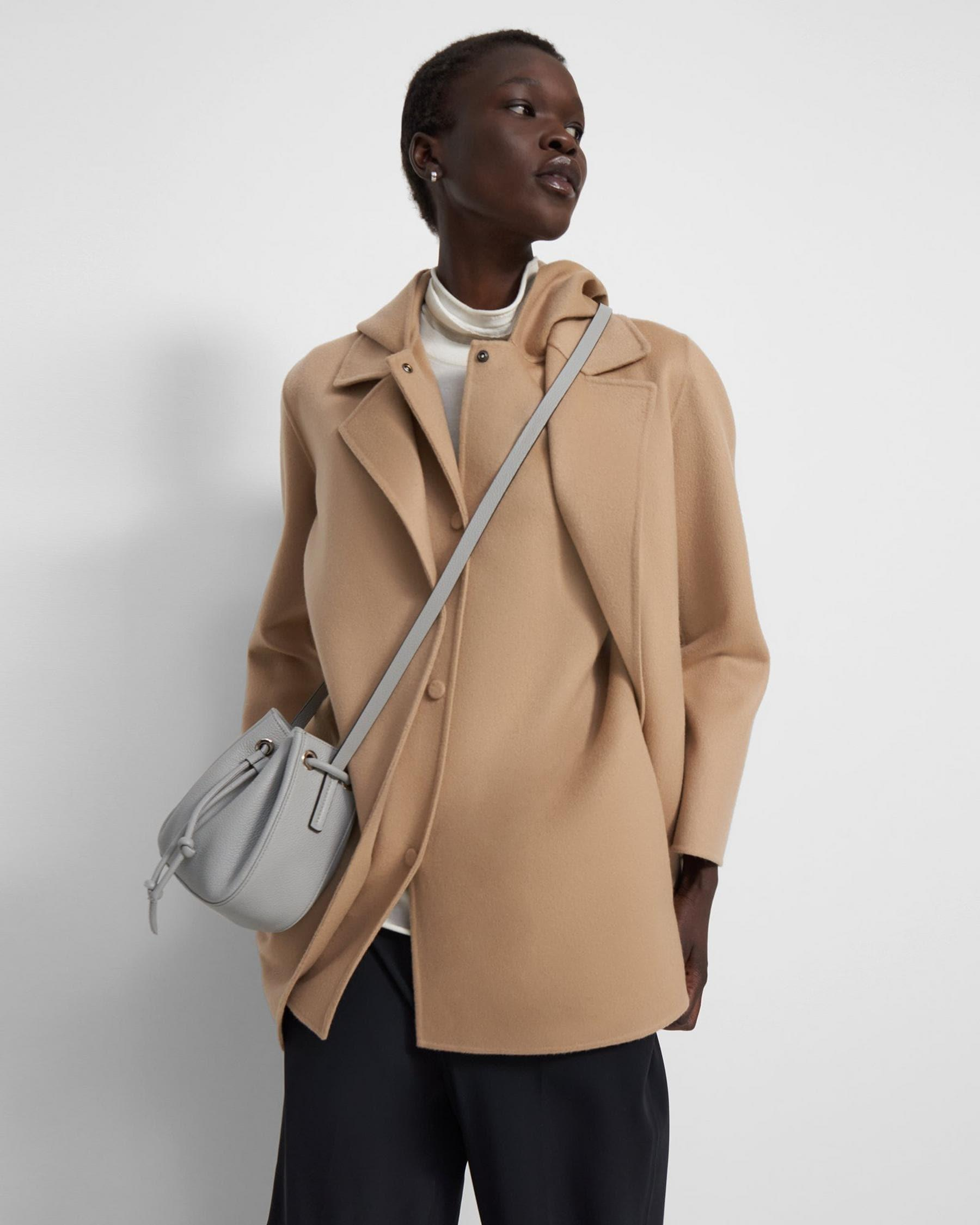 Micro Bucket Bag in Pebbled Leather