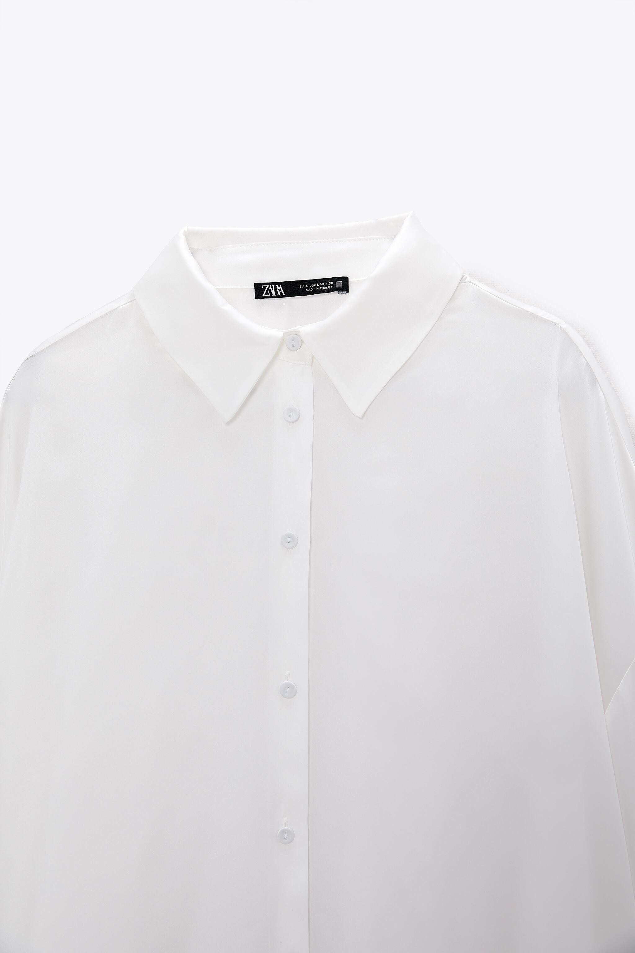 FLOWY LINED BUTTON SHIRT 8