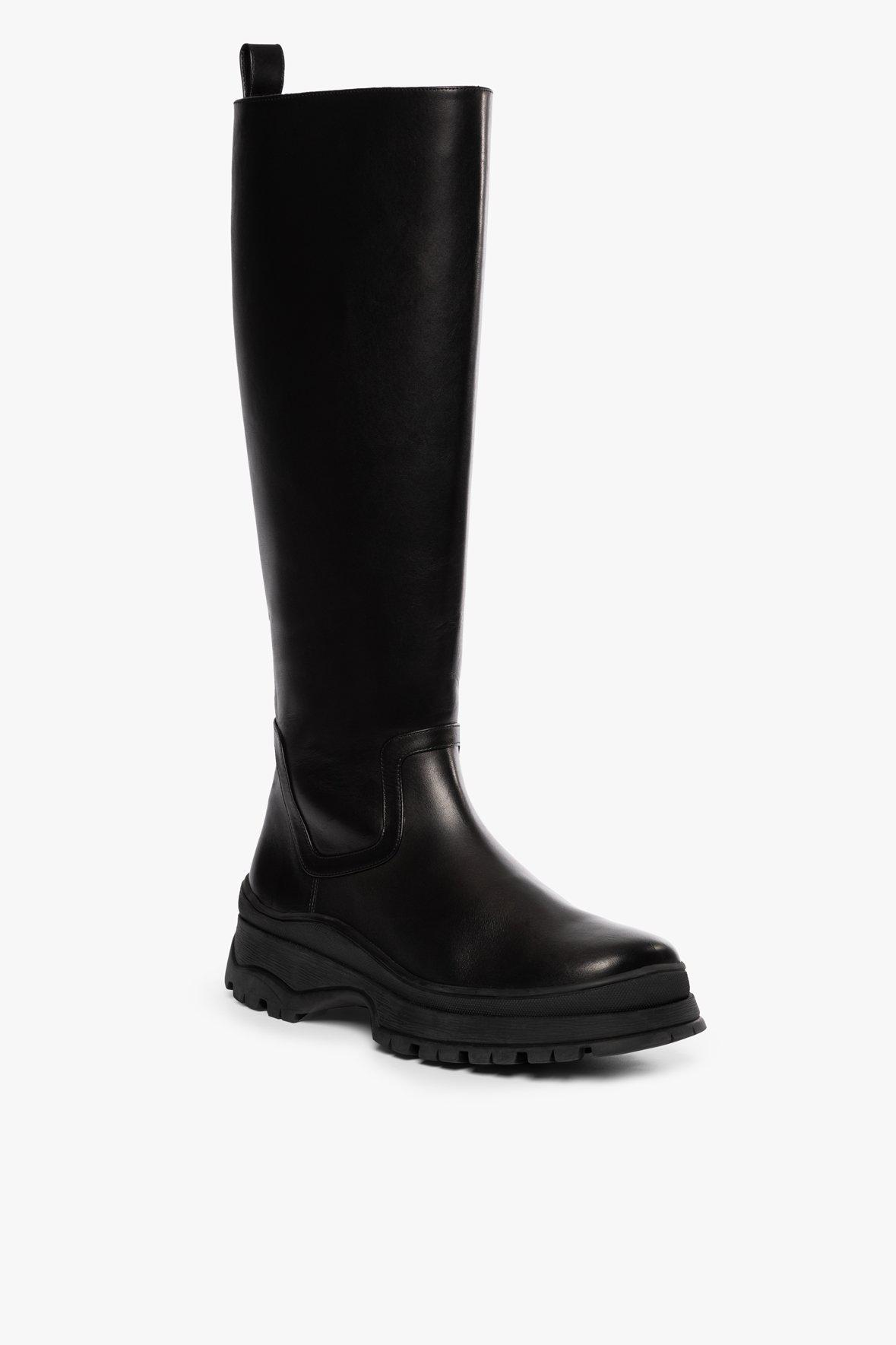BOW TALL BOOT | BLACK