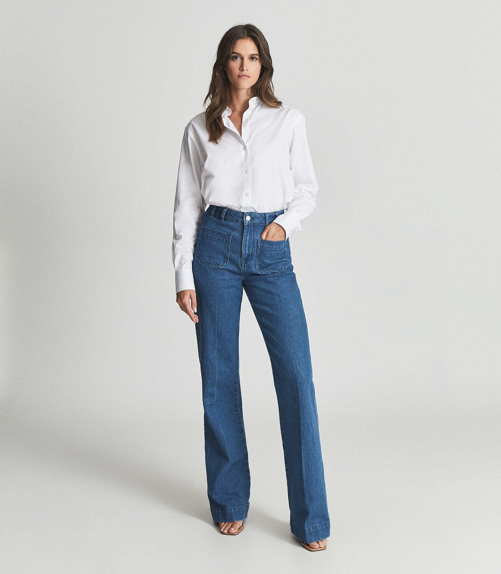 ISA - HIGH RISE FLARED JEANS