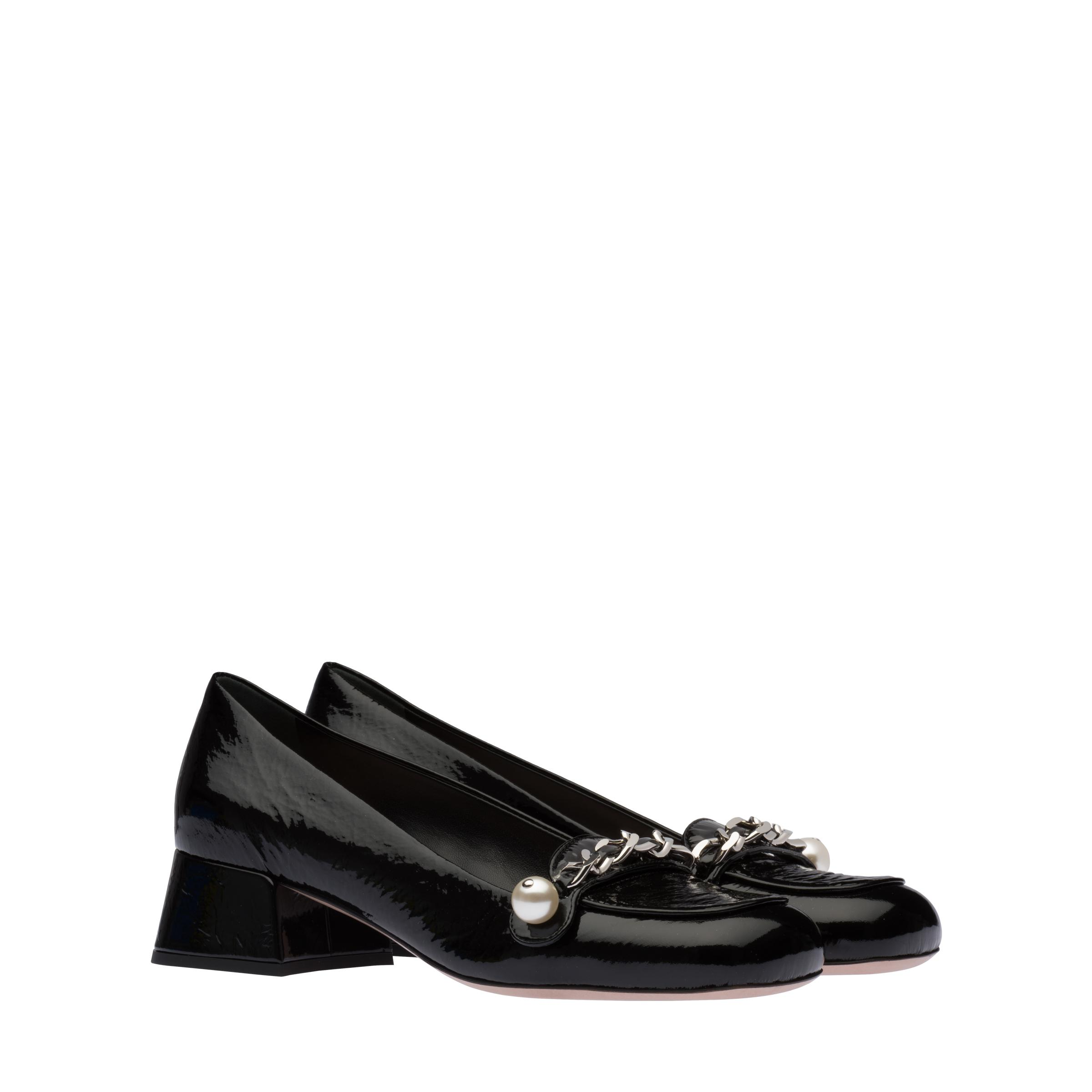 Patent Leather Loafers Women Black