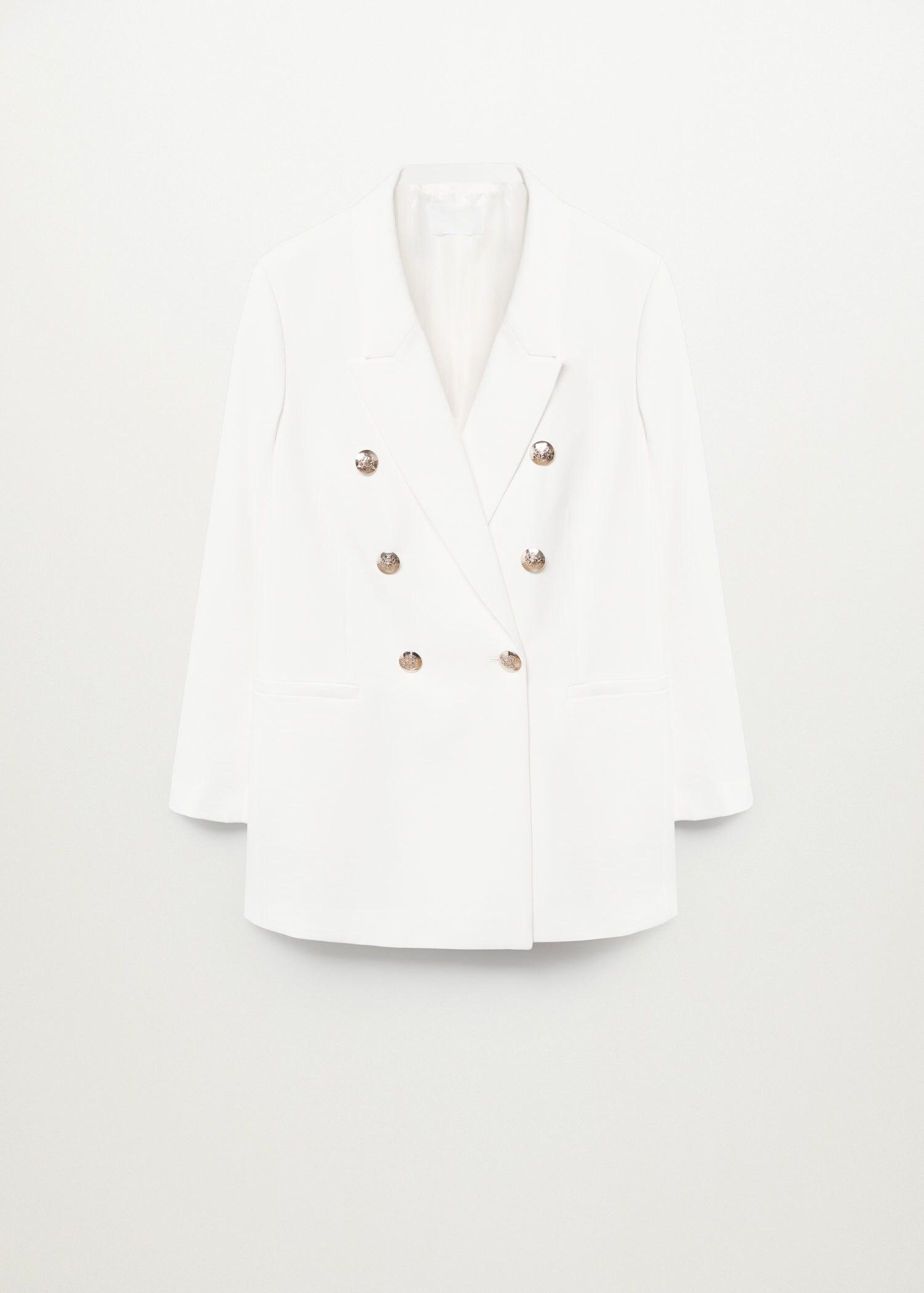 Double-breasted structured blazer 7