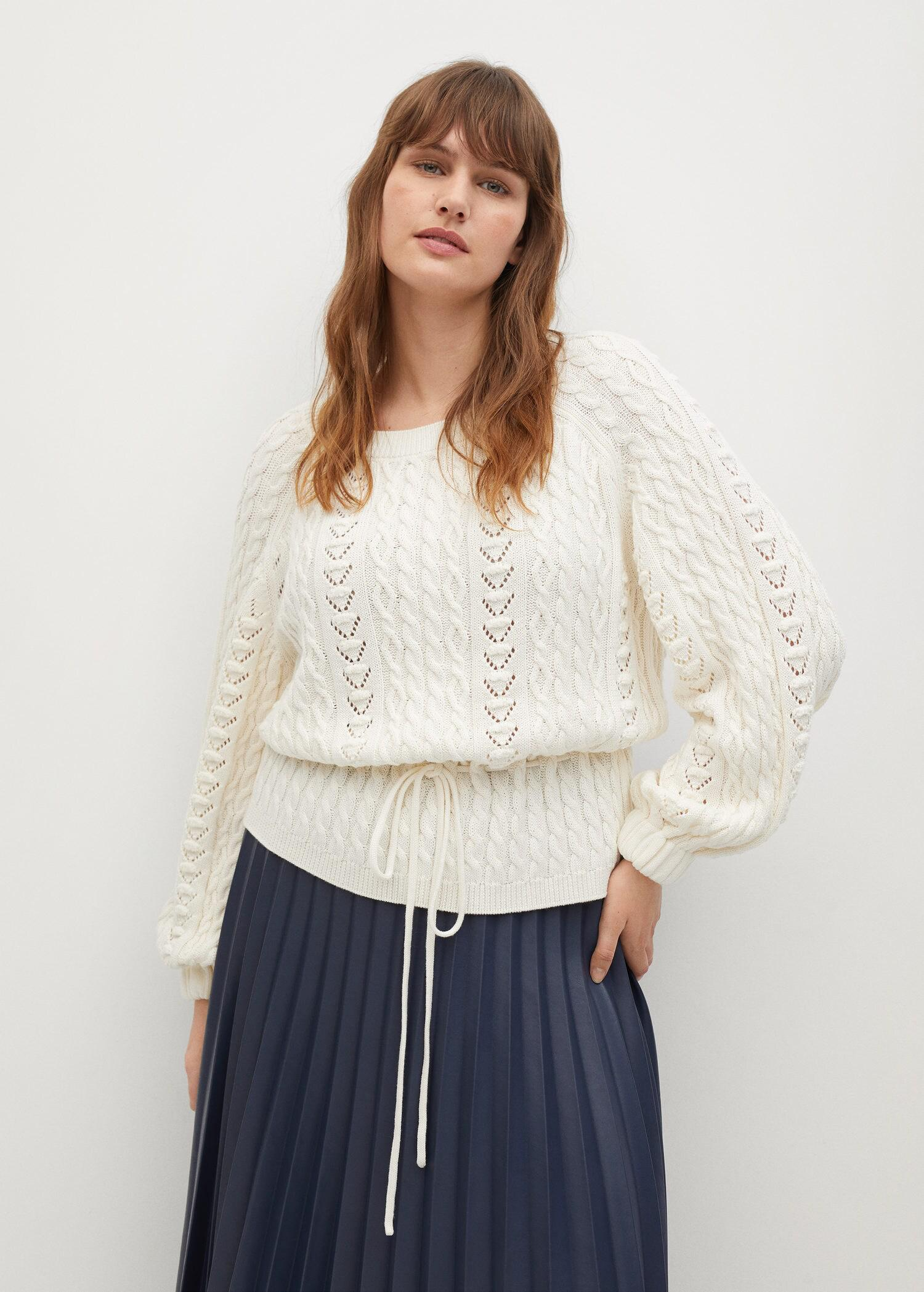 Openwork cable-knit sweater 1