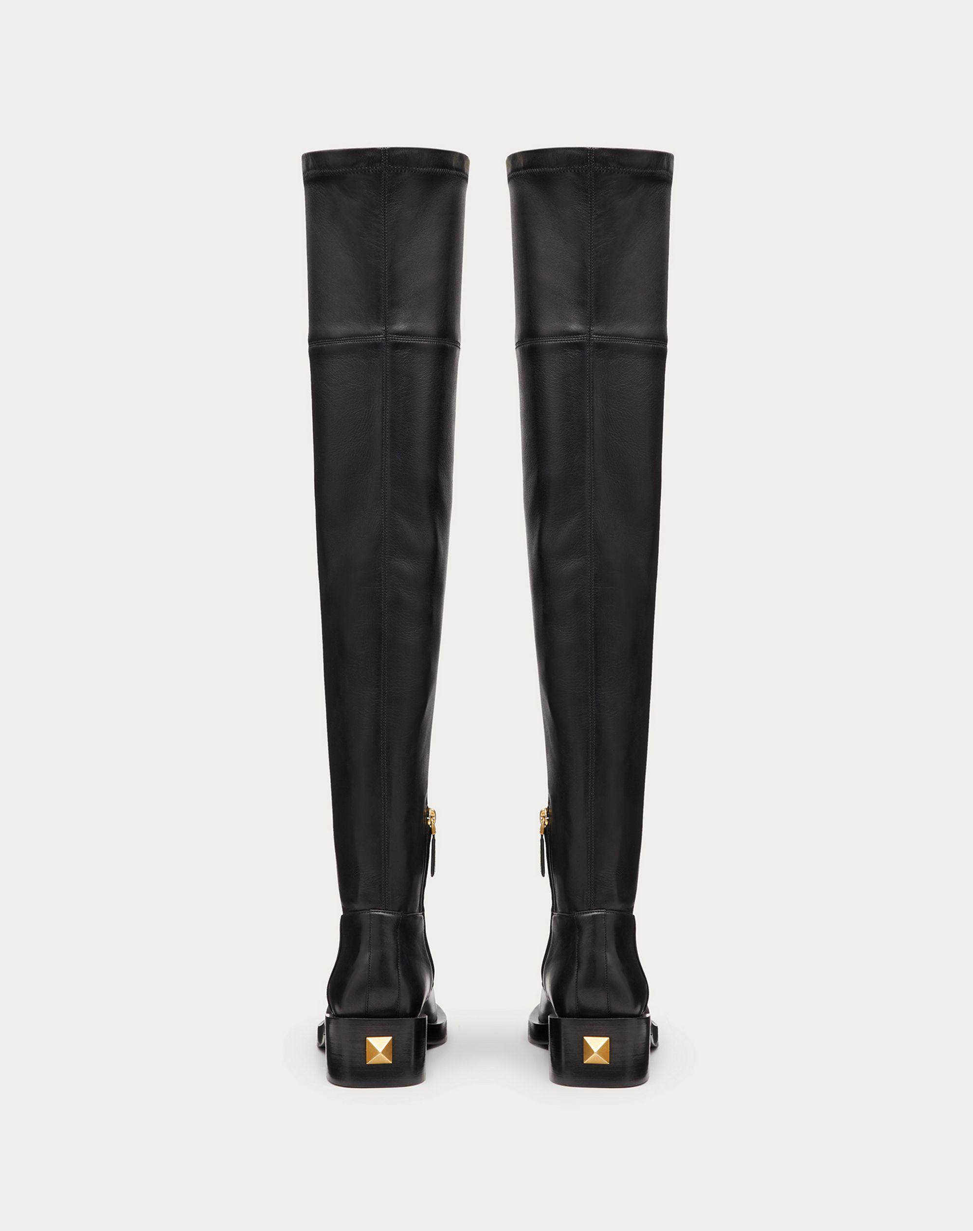 ROMAN STUD STRETCH NAPPA OVER-THE-KNEE BOOT 30MM 2