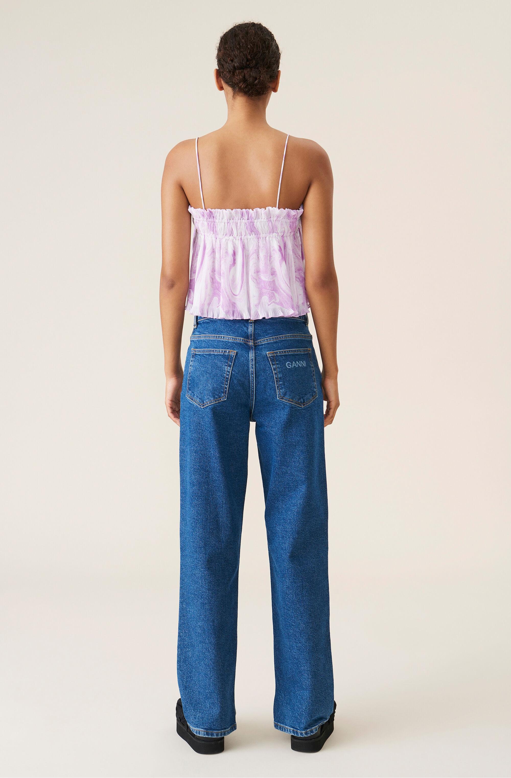 Pleated Georgette Strap Top 2