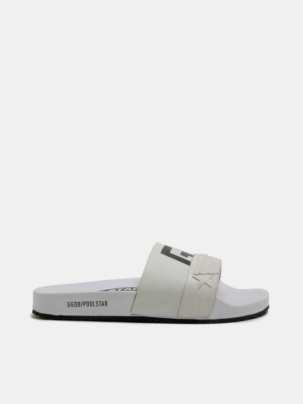 White Poolstars for women with GGDB logo