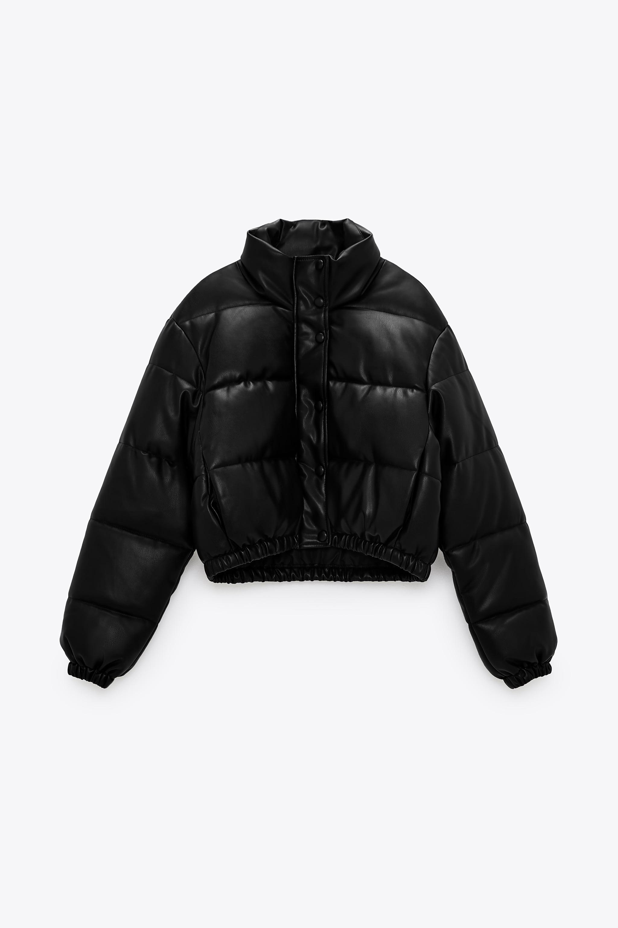 FAUX LEATHER PUFFER JACKET 4