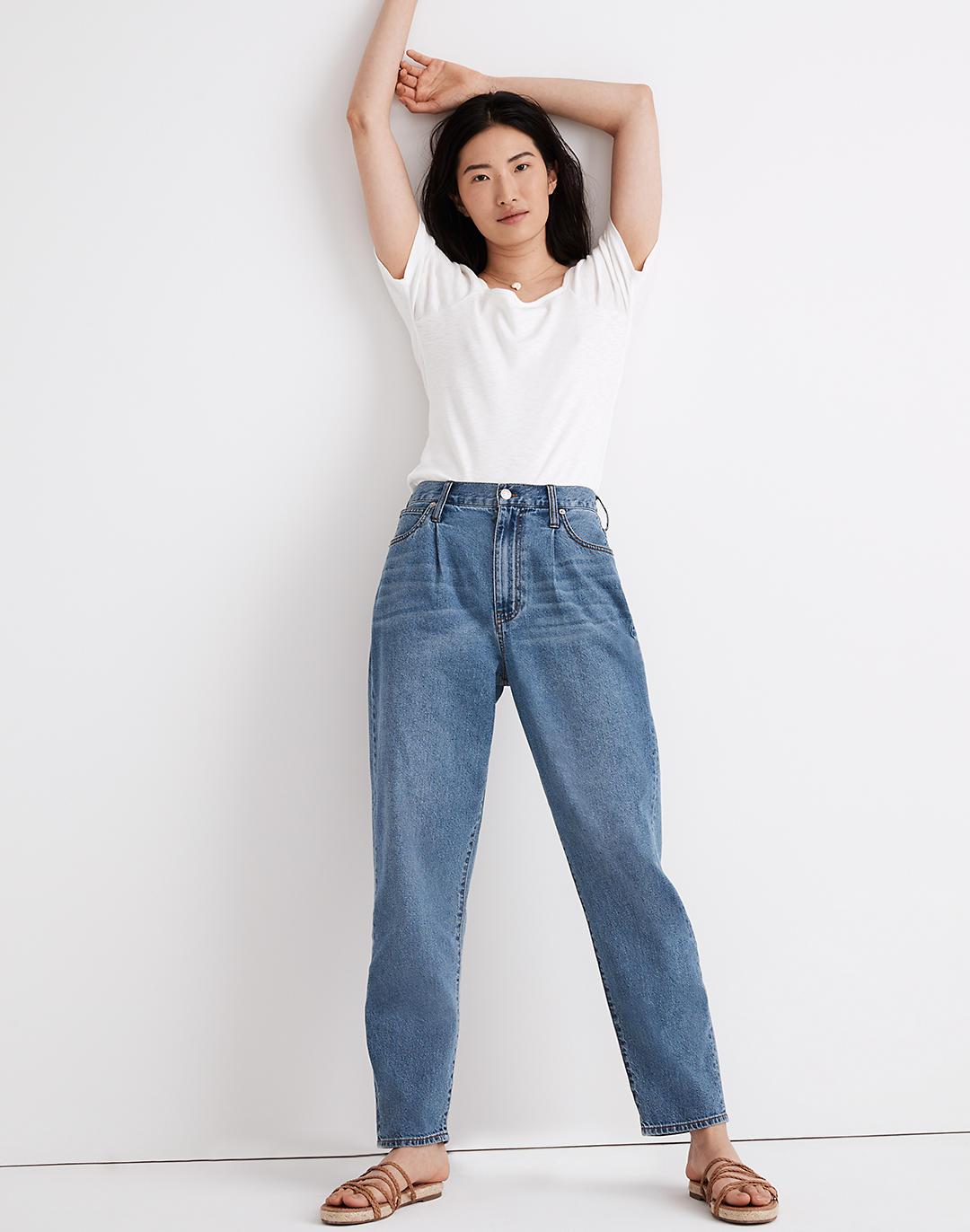 Baggy Tapered Jeans in Jewell Wash