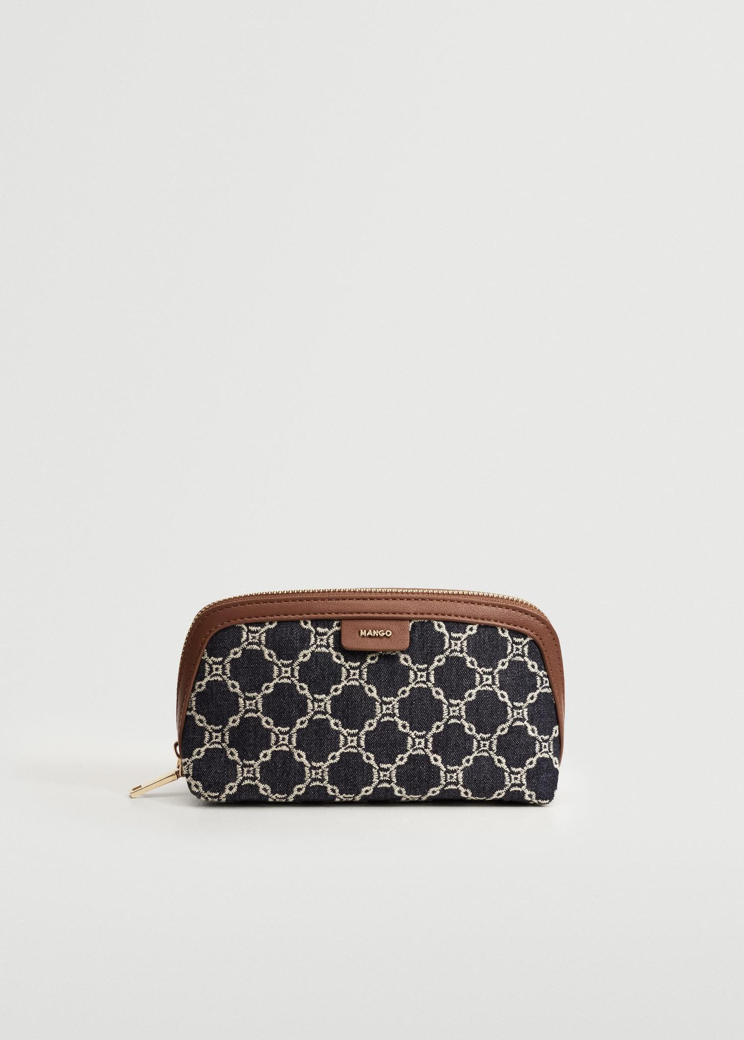 Embroidered chains toiletry bag