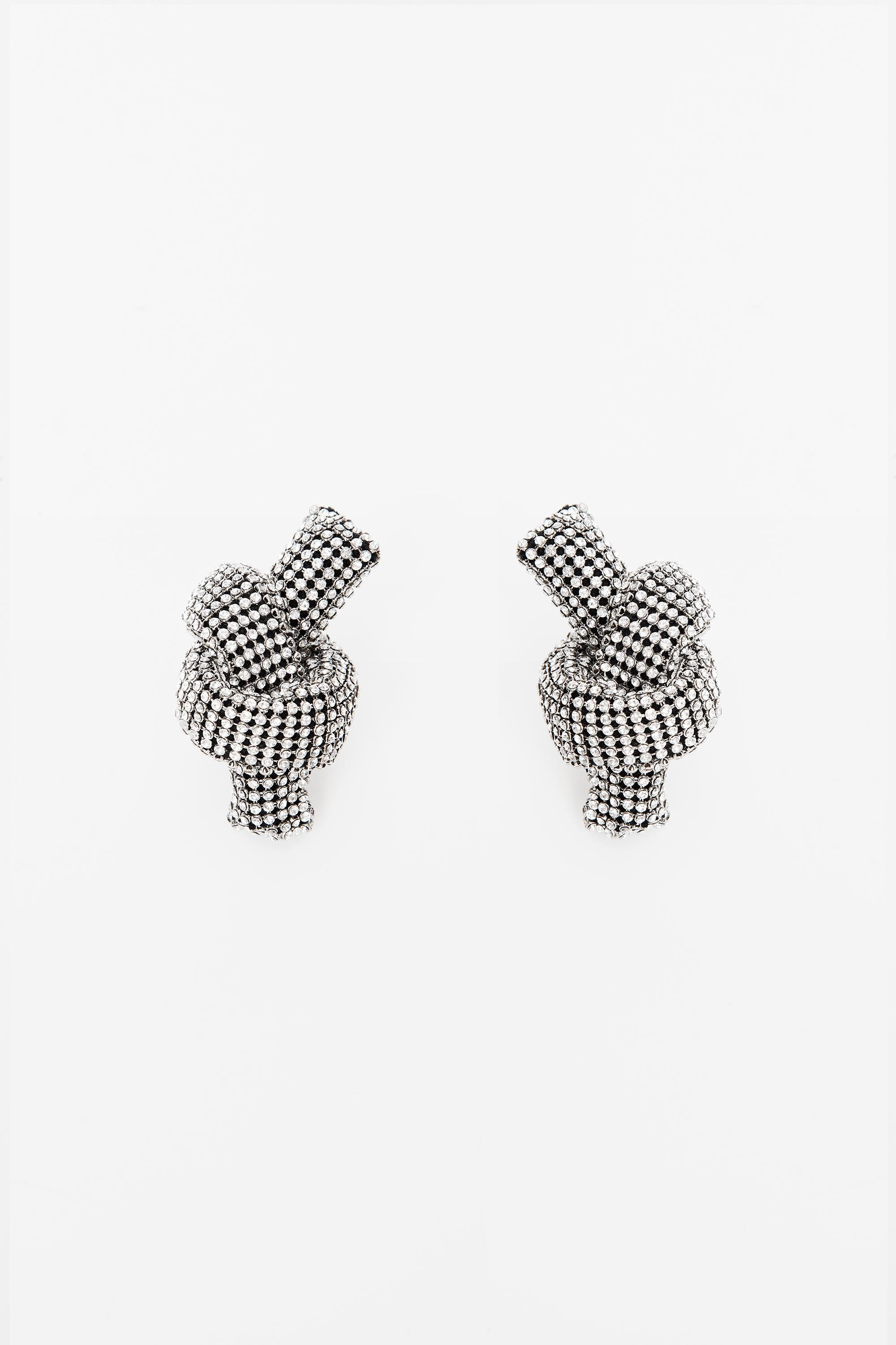 crystal knot earring