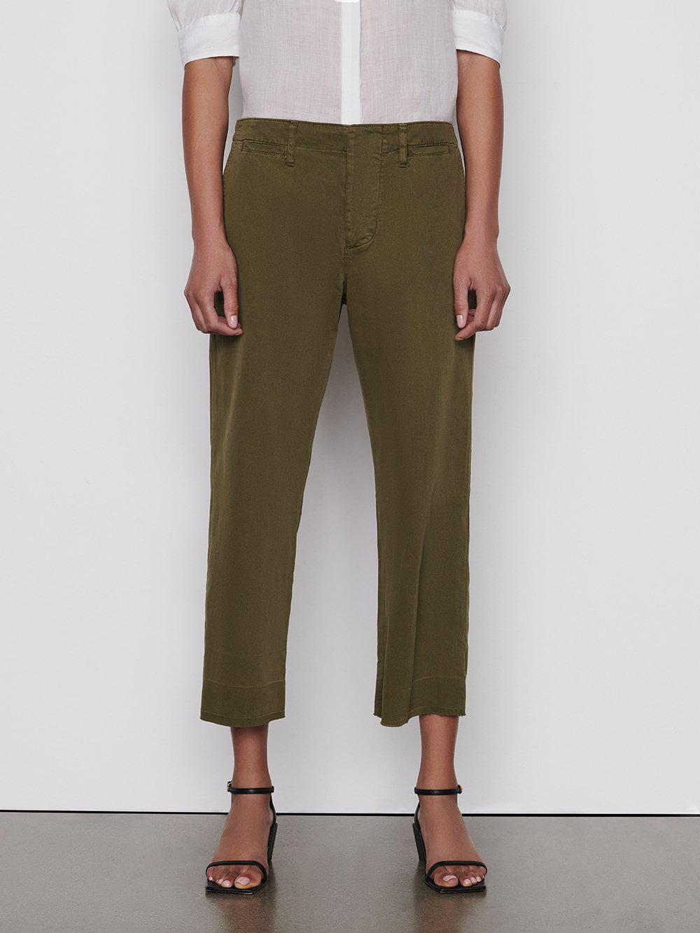 Le Tomboy Trouser Released Hem -- Washed Moss