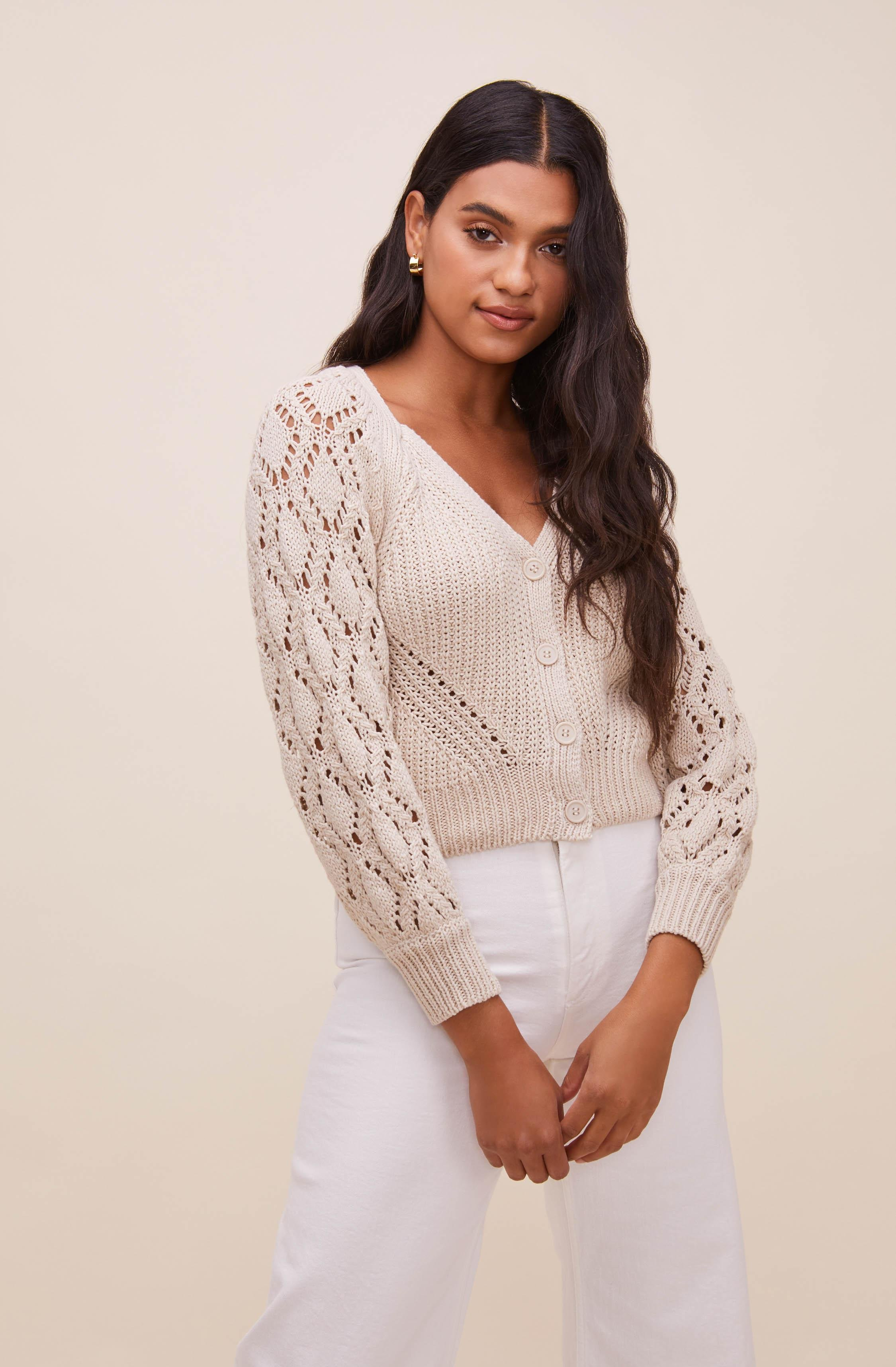Angelica Pointelle Knit Cardigan