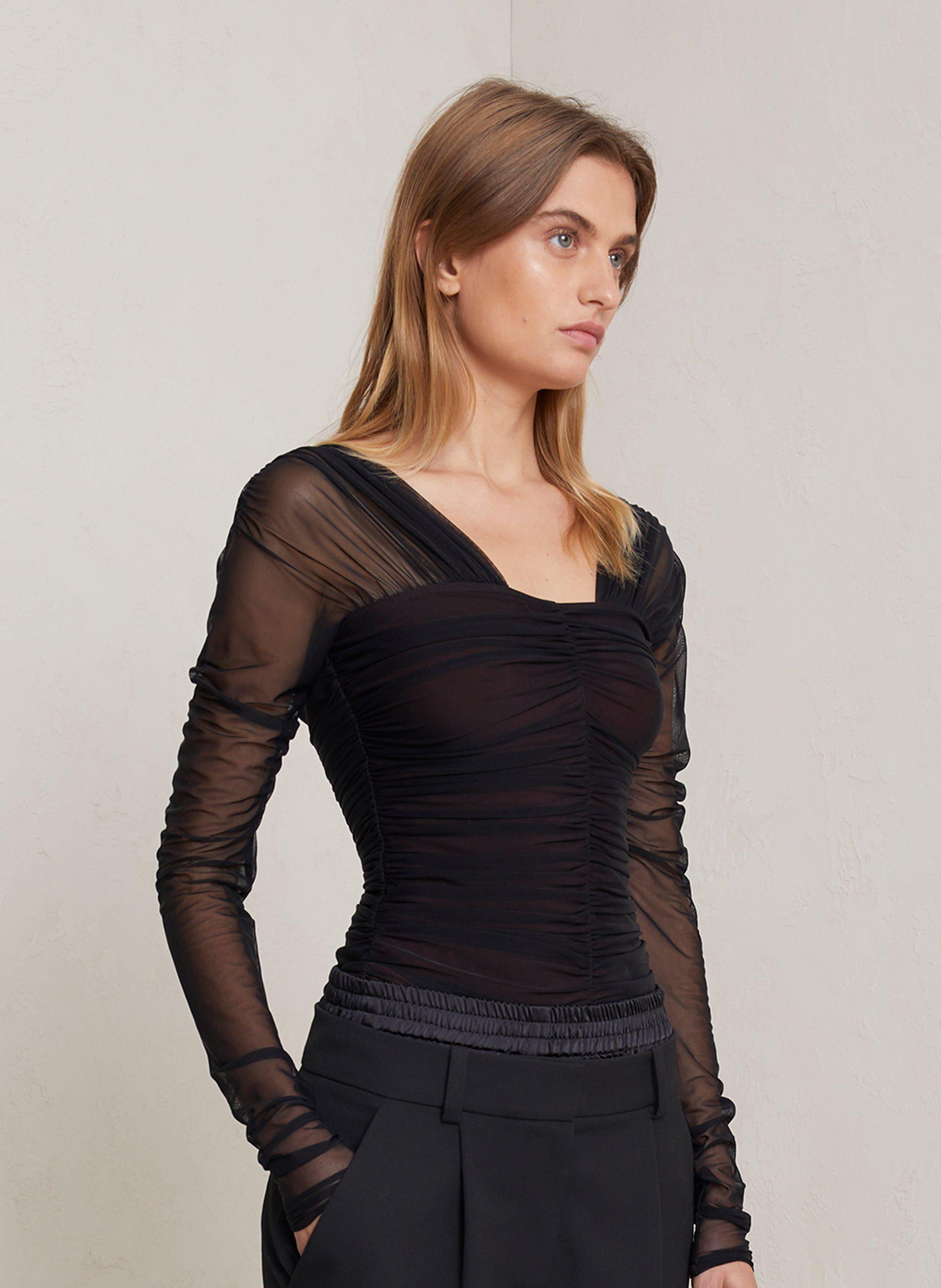 Jackie Tulle Jersey Top