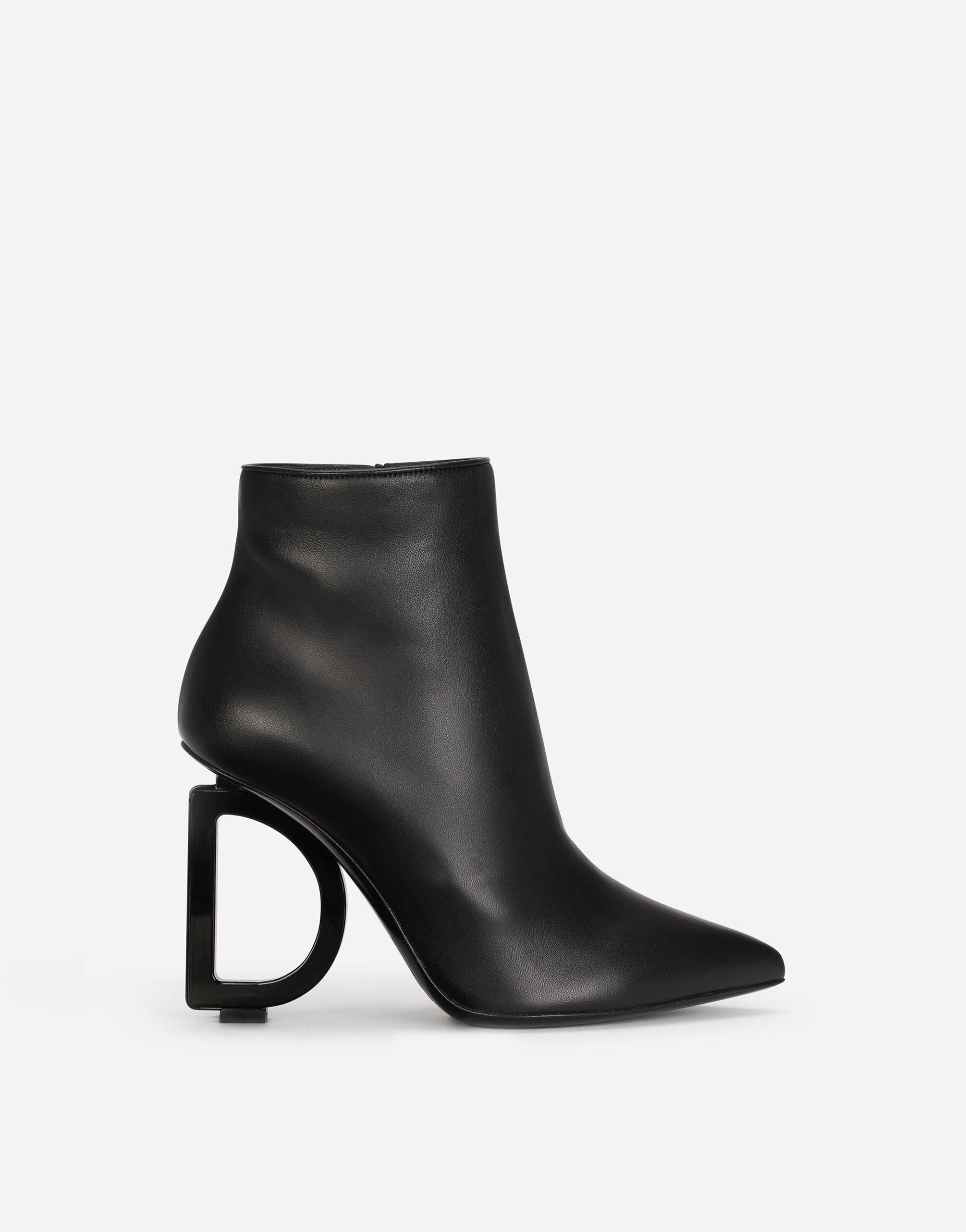 Nappa leather ankle boots with DG heel