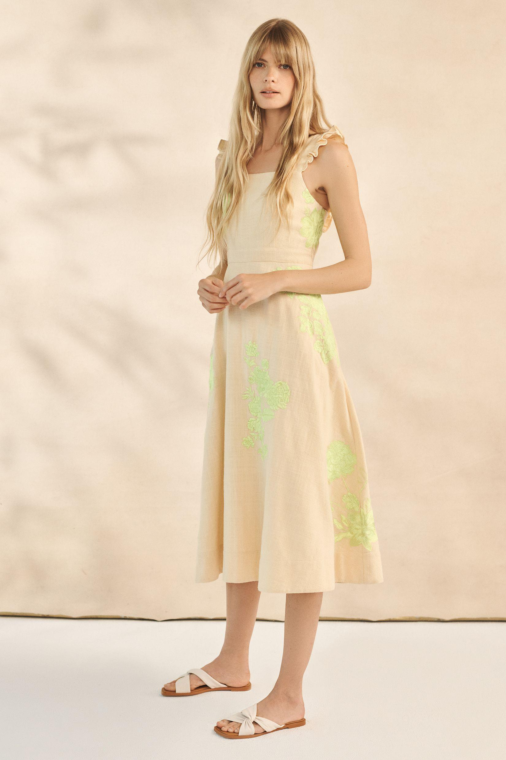 Floral Embroidered Midi Dress 3