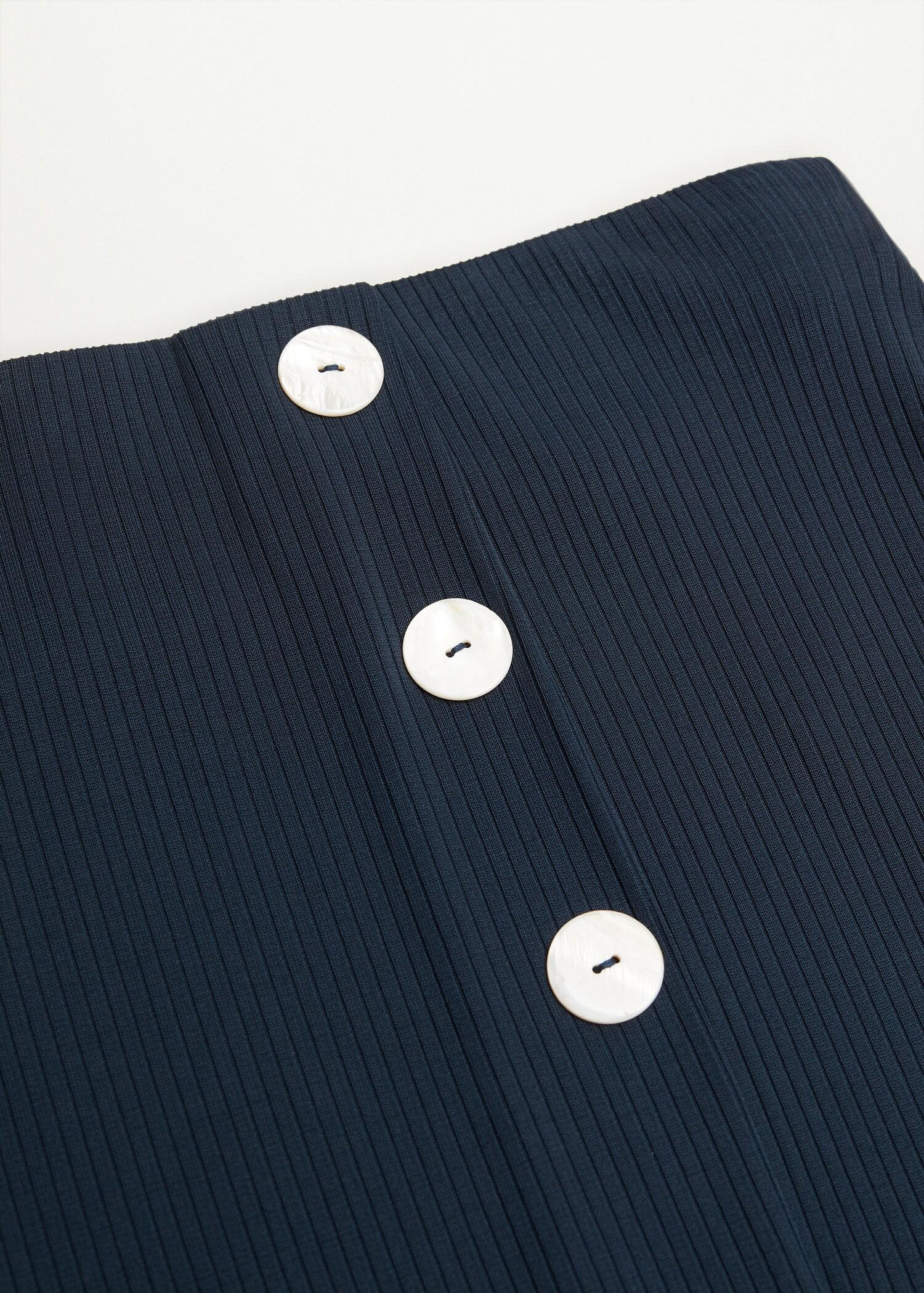 Buttoned ribbed skirt 5