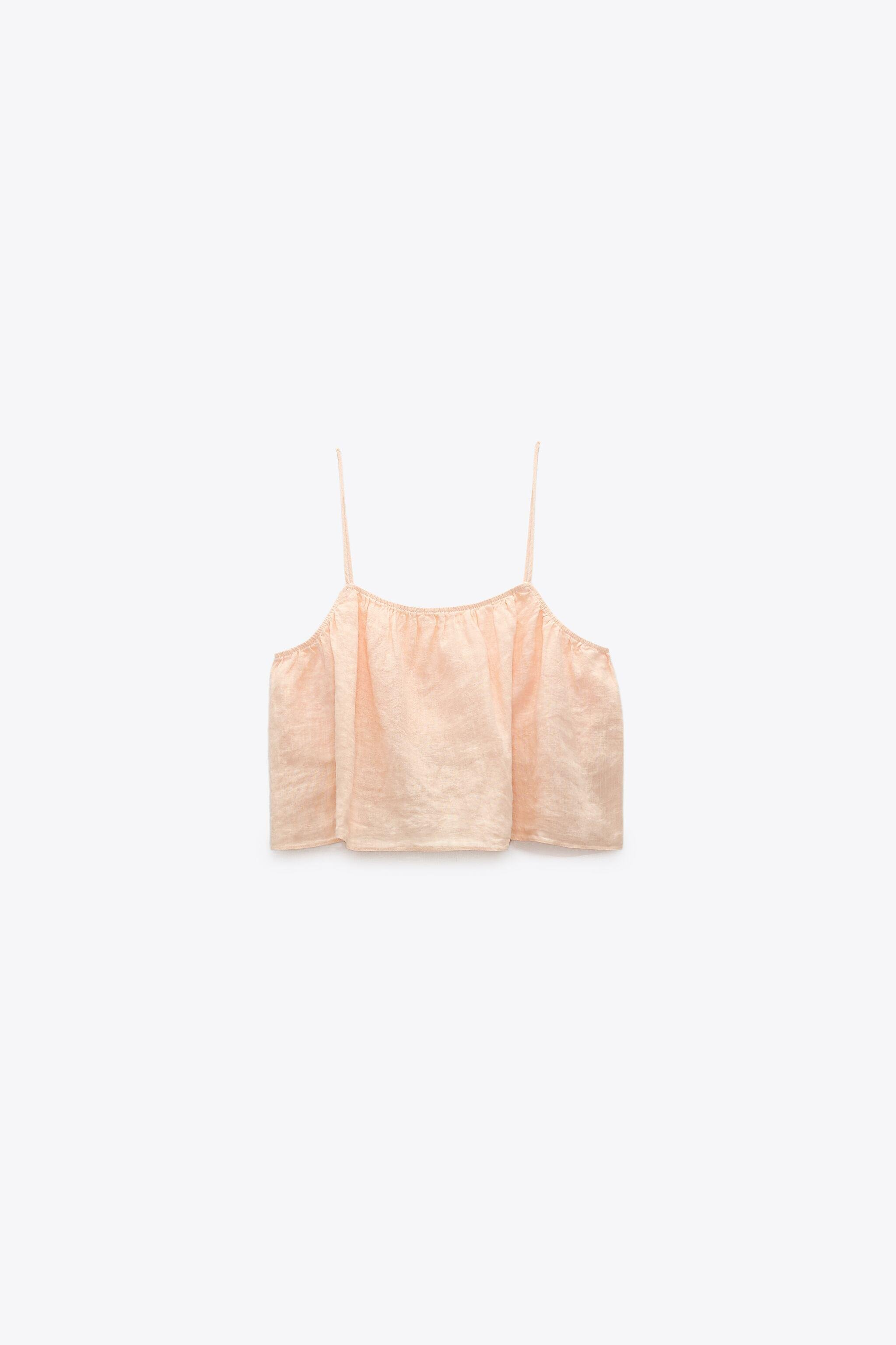 CROPPED LINEN TOP 2