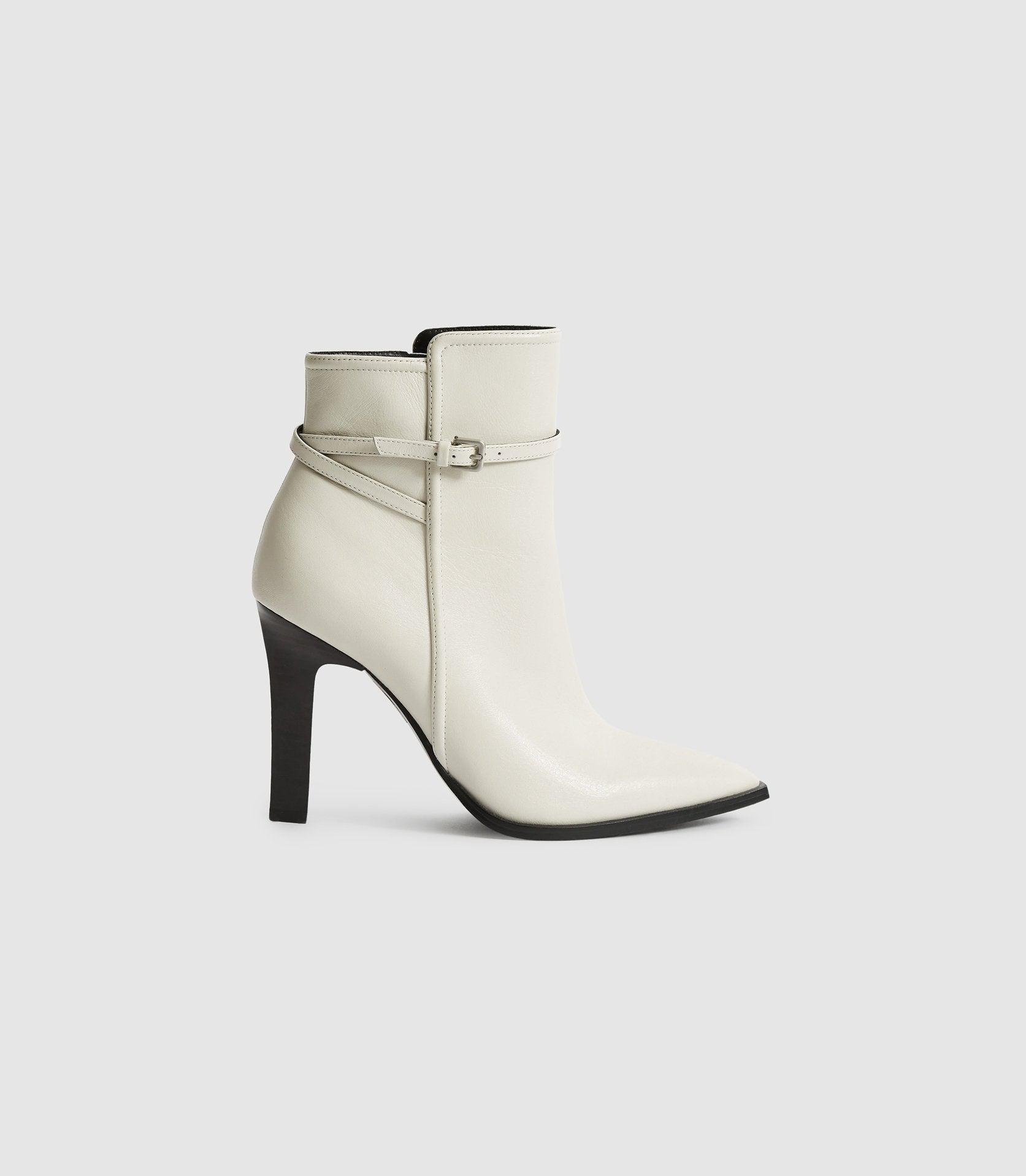 ADA ANKLE - LEATHER POINT-TOE ANKLE BOOTS