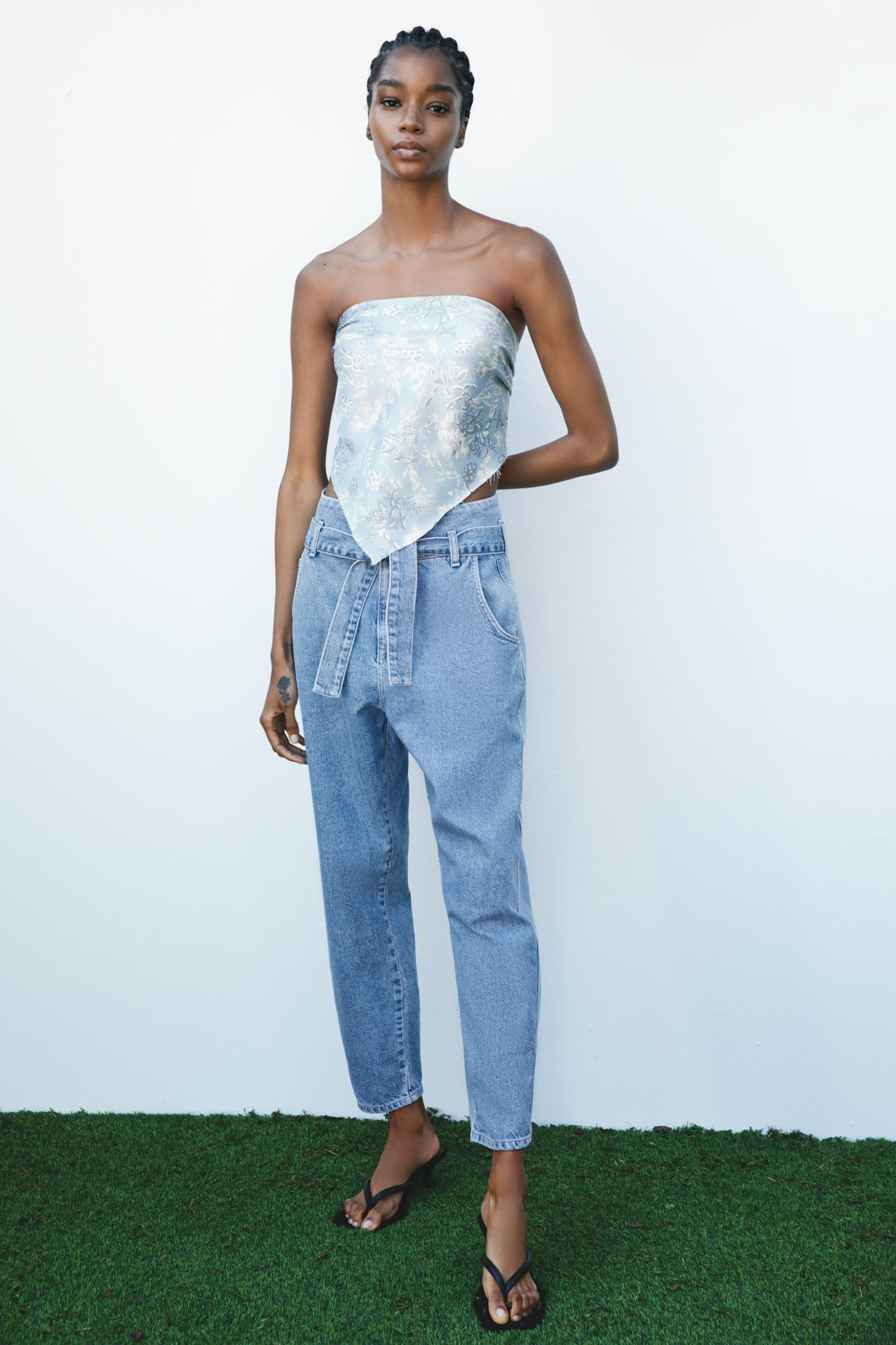Z1975 BELTED BALLOON JEANS