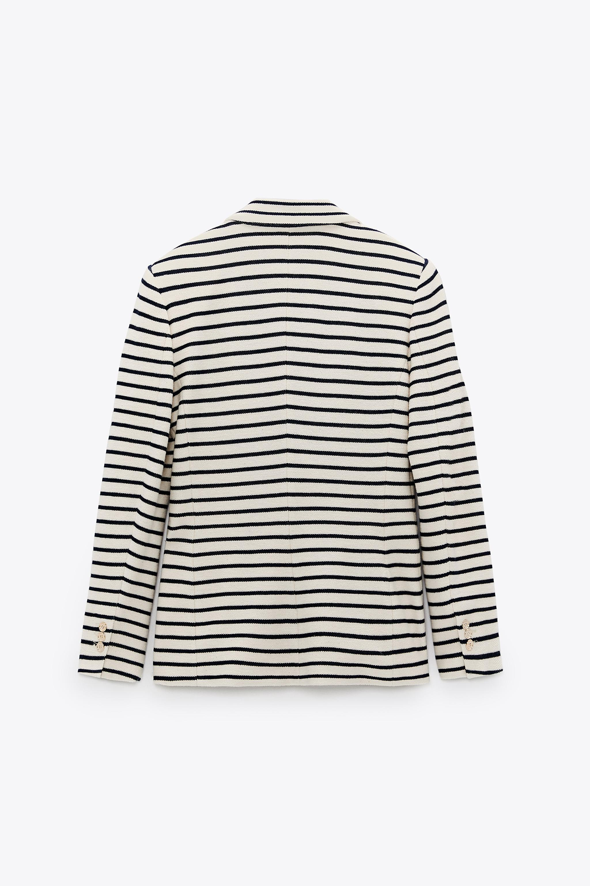 DOUBLE BREASTED STRIPED BLAZER 7