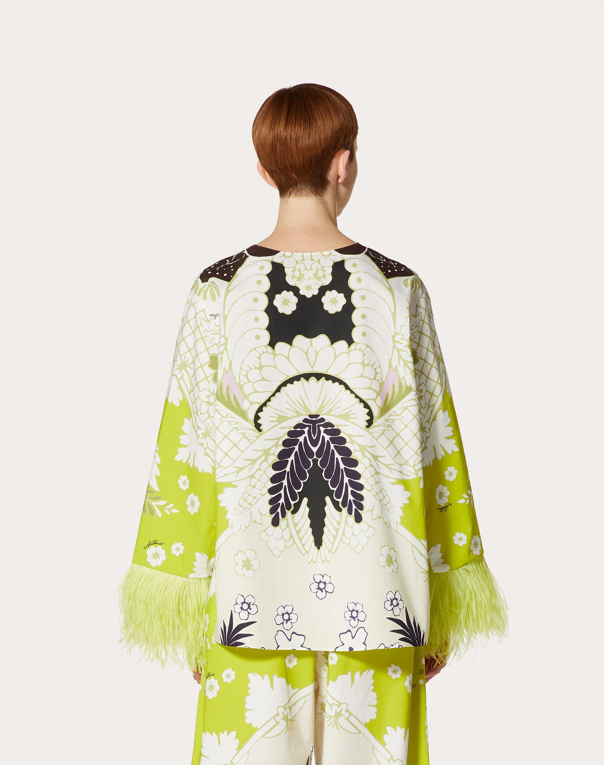 PRINTED POPLIN TOP WITH EMBROIDERY 2