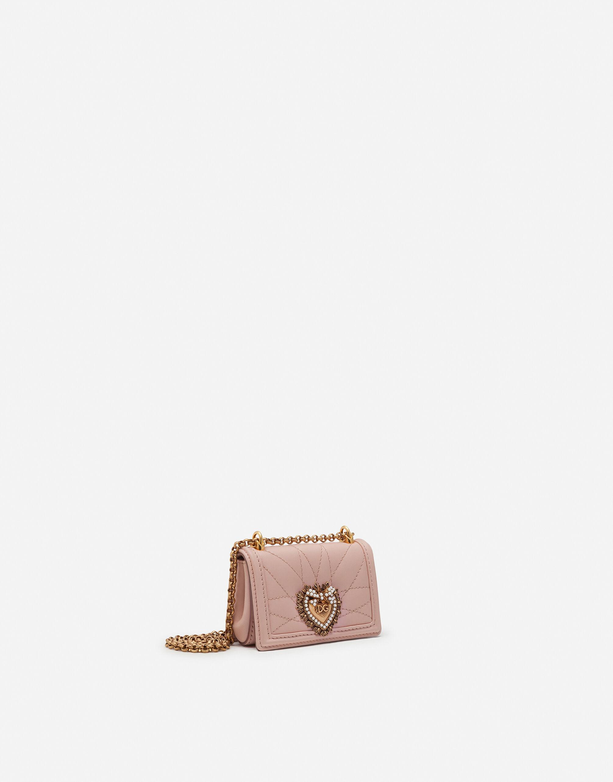 Devotion micro bag in quilted nappa leather 1